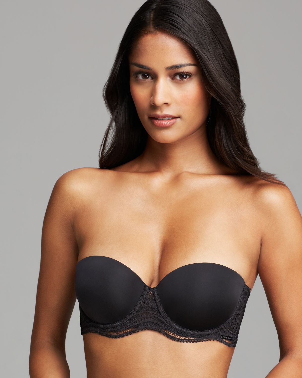 Calvin klein Bra - Infinite Lace Multi Way Strapless Push Up ...
