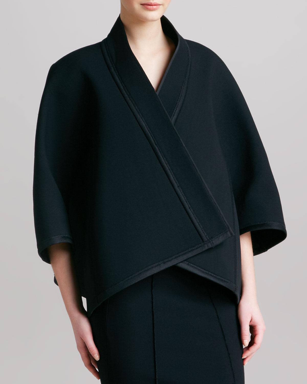 lyst donna karan womens threequartersleeve kimono jacket. Black Bedroom Furniture Sets. Home Design Ideas