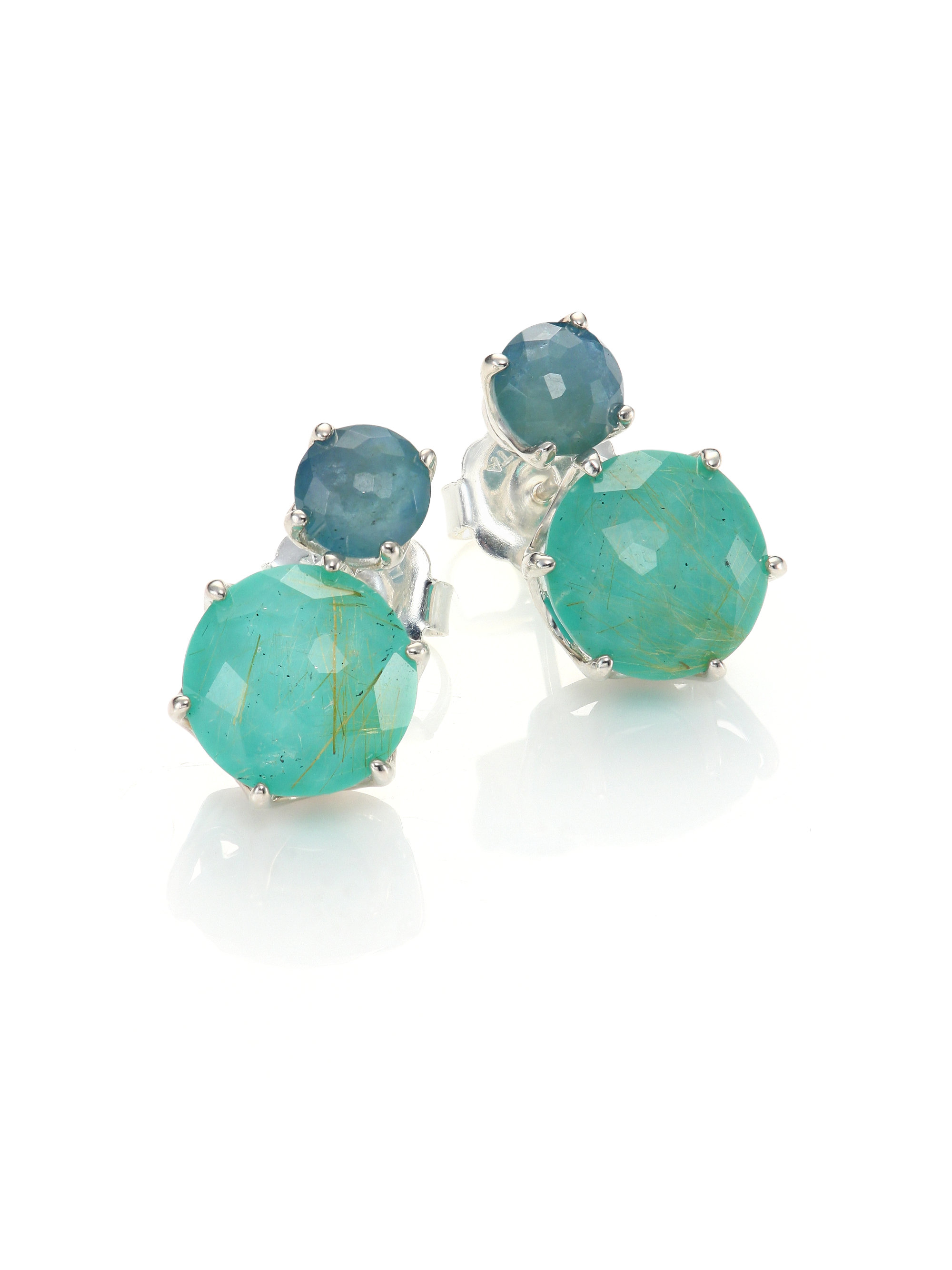 screw earring stud back aqua marine offer itm aquamarine special round ebay