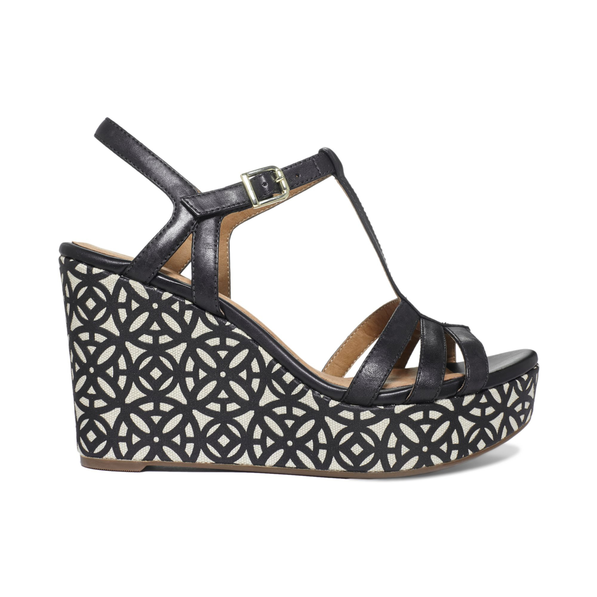 09c7921de52c Lyst - Clarks Artisan By Amelia Avery Platform Wedge Sandals in Black