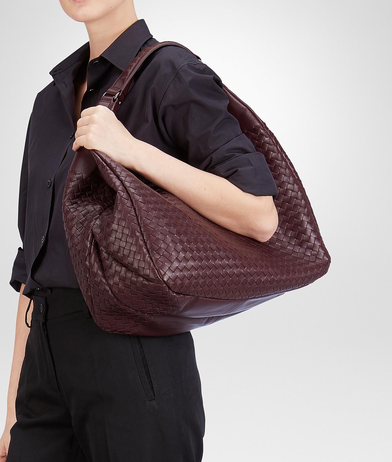 4ca50f8931 Bottega Veneta Aubergine Intrecciato Nappa Campana Bag in Purple - Lyst