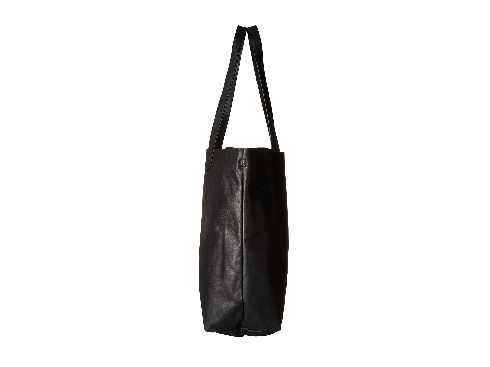 16d4cf6e092 TOMS Leather Tote in Black - Lyst
