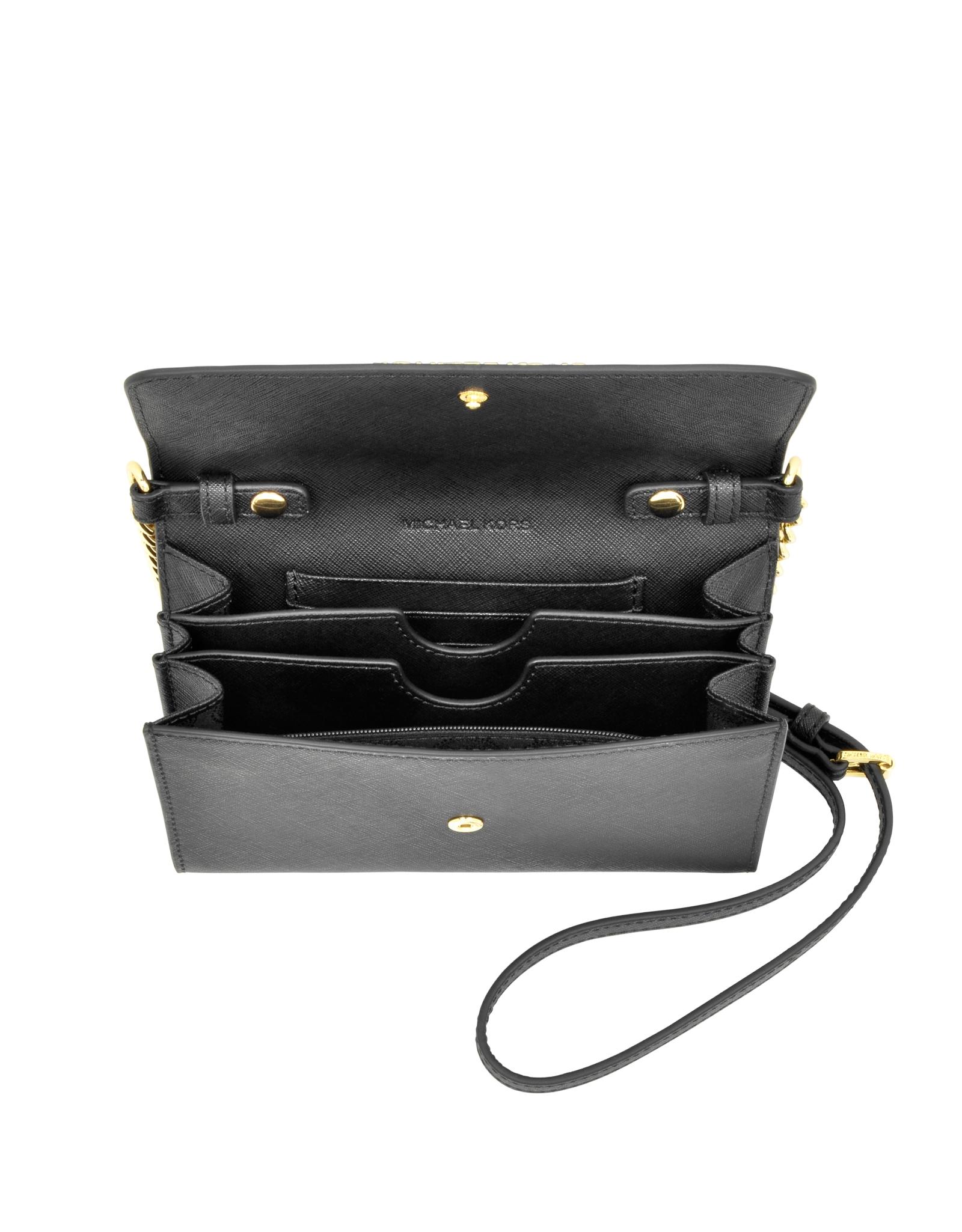 5ed8e8aa3cbe Lyst - Michael Kors Jet Set Travel Large Phone Crossbody in Black