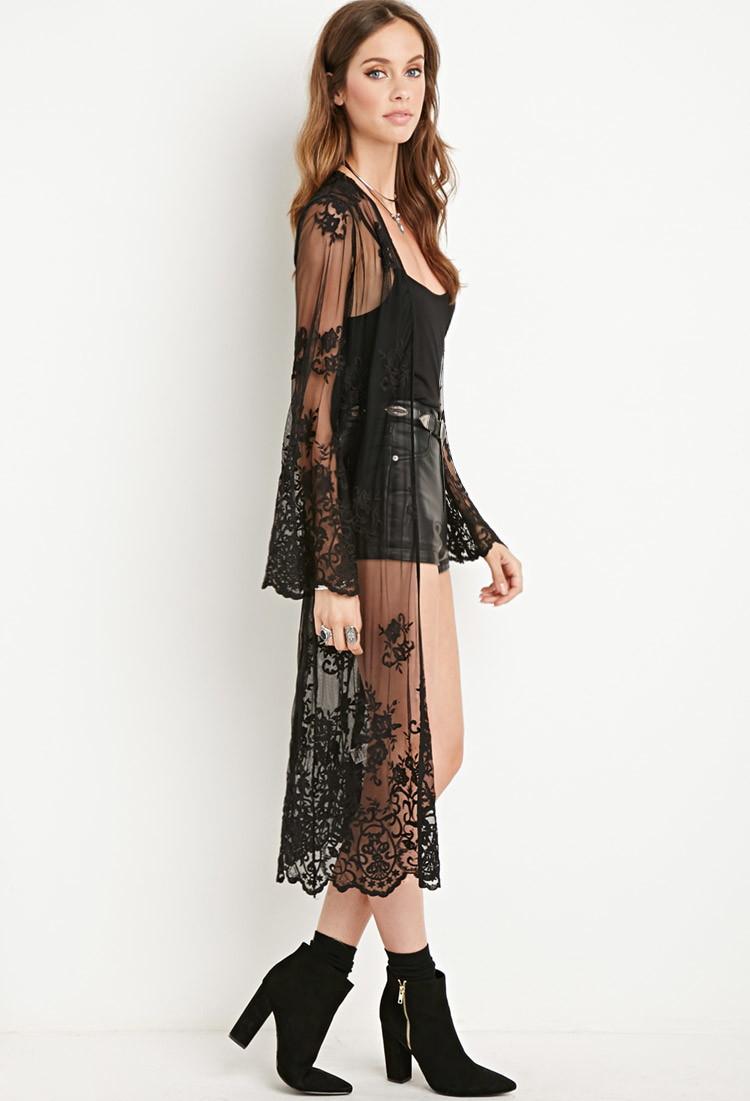Black dress forever 21 kimono