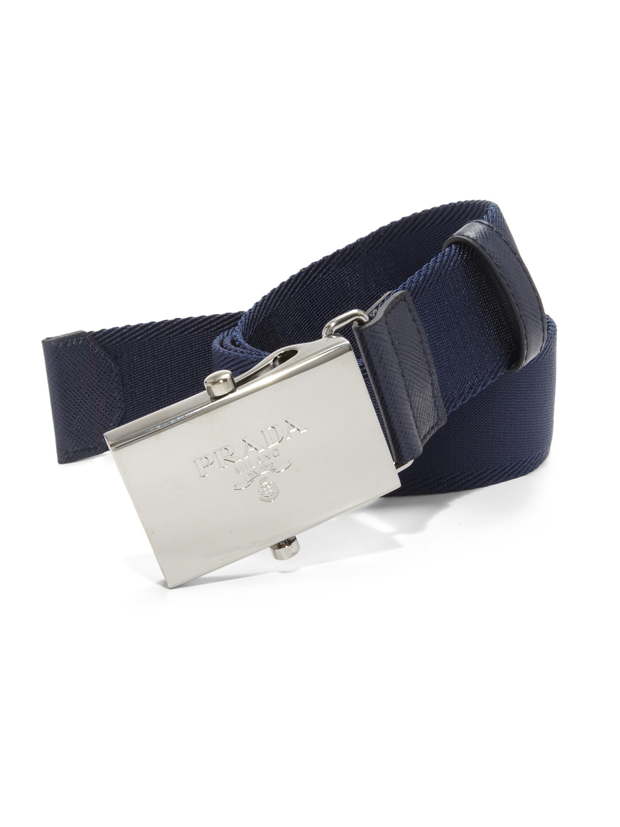 Prada Nylon Belt in Blue for Men (baltic-blue) | Lyst
