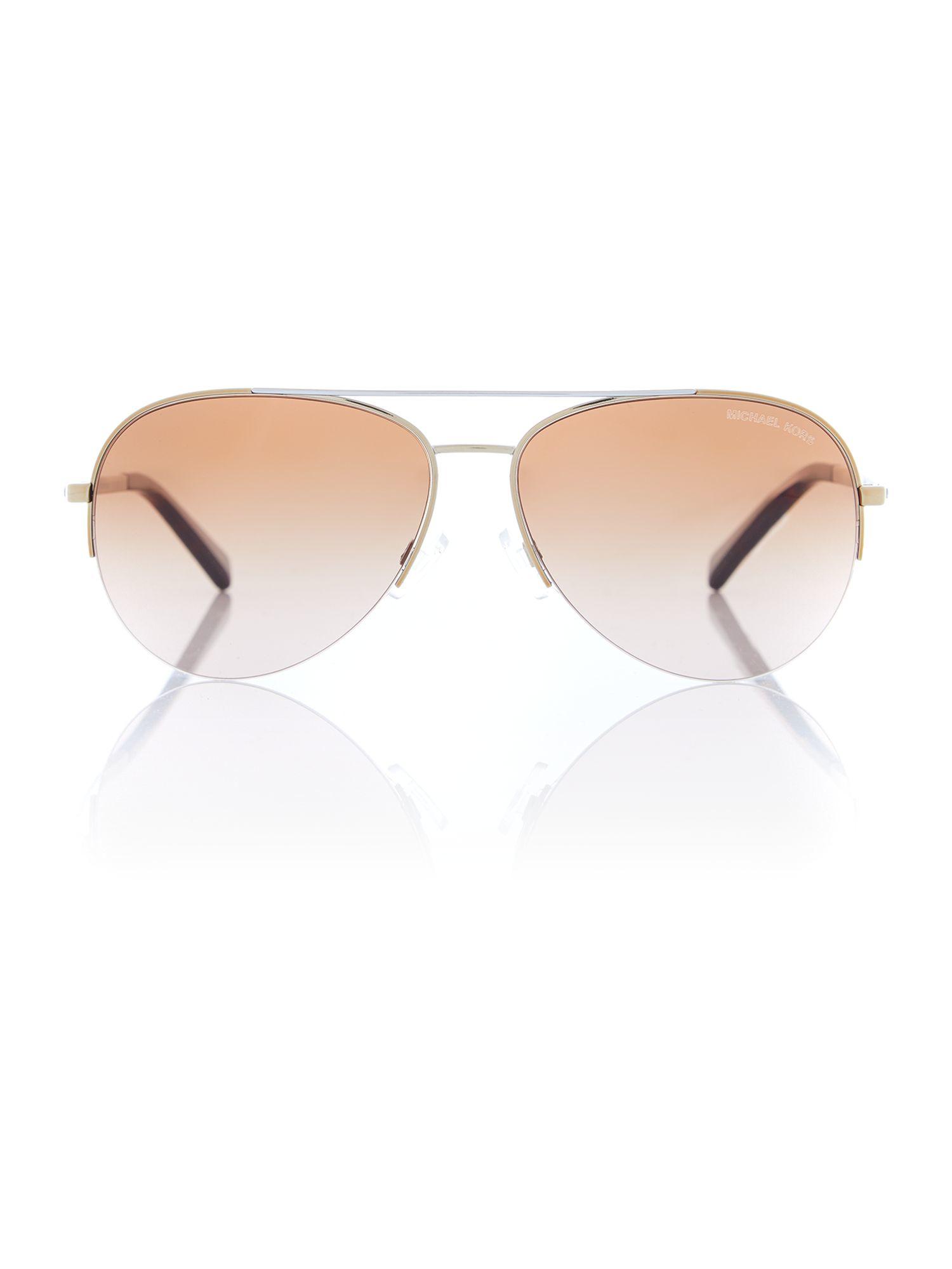 Michael Kors Montrose Sunglasses  michael kors 0mk1001 pilot sunglasses in natural lyst