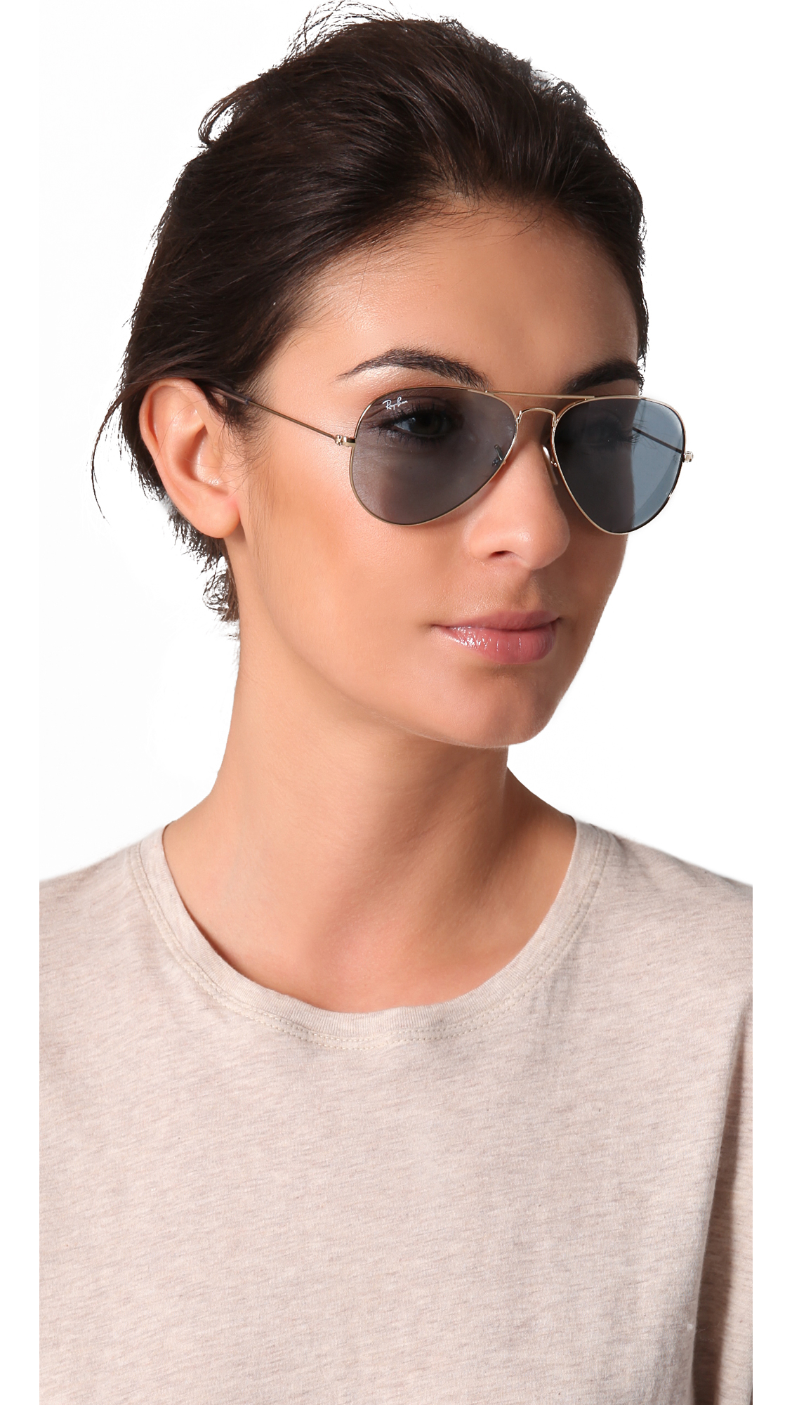 Lyst Ray Ban Aviator Sunglasses In Blue