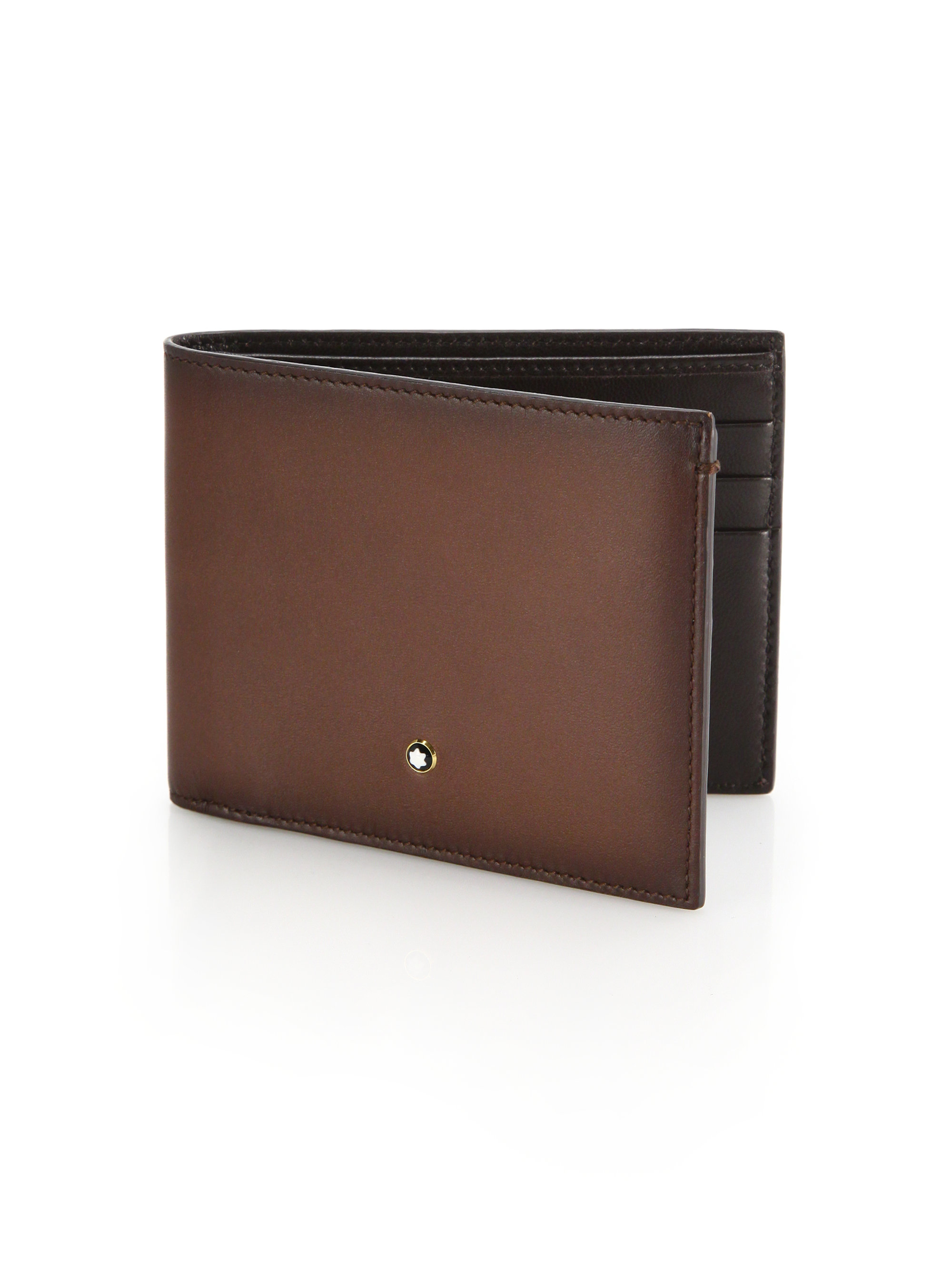 f41bbc9dd93 Lyst Montblanc Italian Leather Wallet In Brown For Men