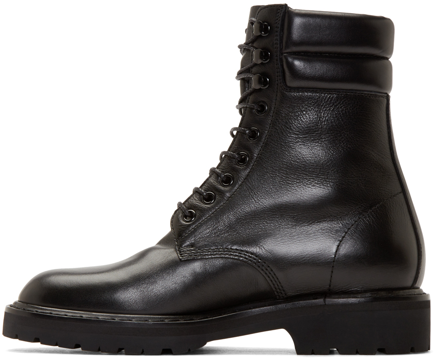 Saint Laurent Leather Military Boots