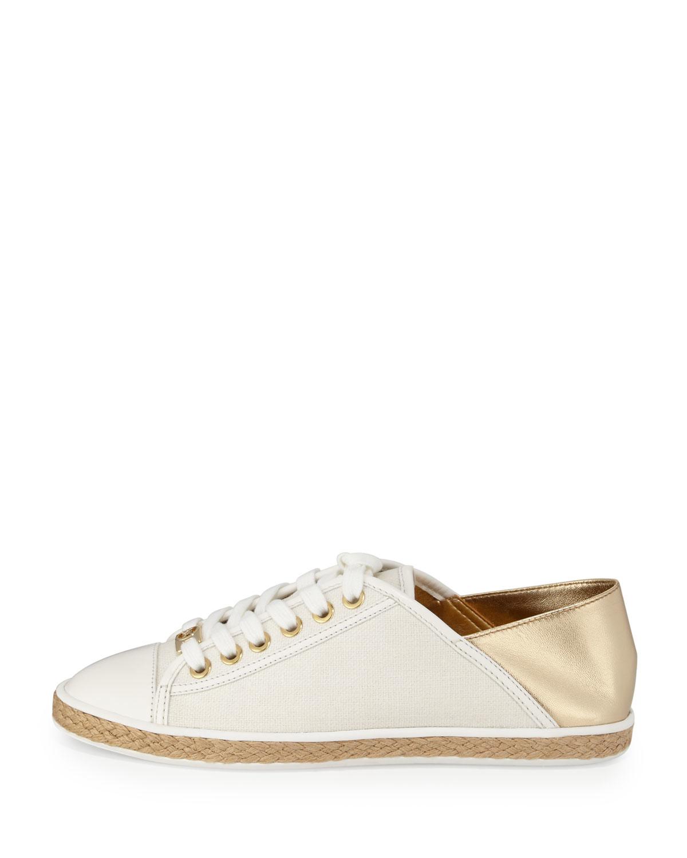 18506d9aa845 Lyst - MICHAEL Michael Kors Kristy Lace-up Low-top Sneaker in Metallic