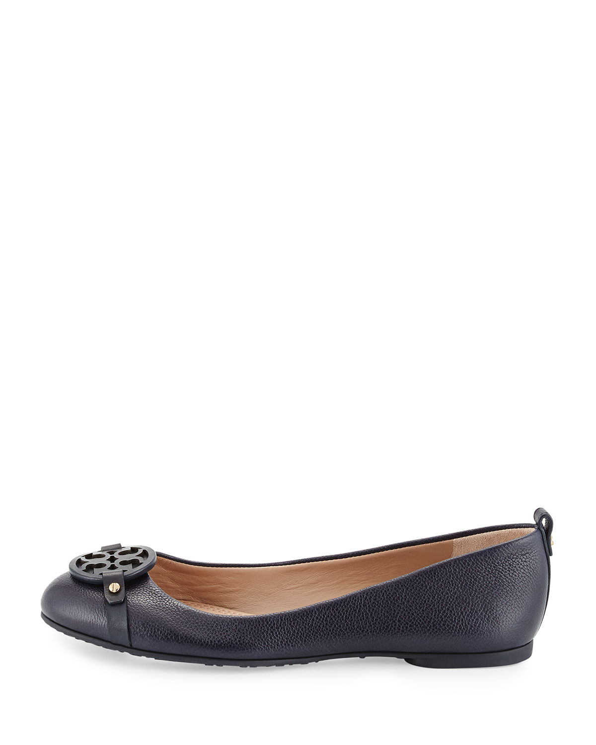 52eb60cc903ec2 Lyst - Tory Burch Mini Miller Leather Ballet Flats in Blue
