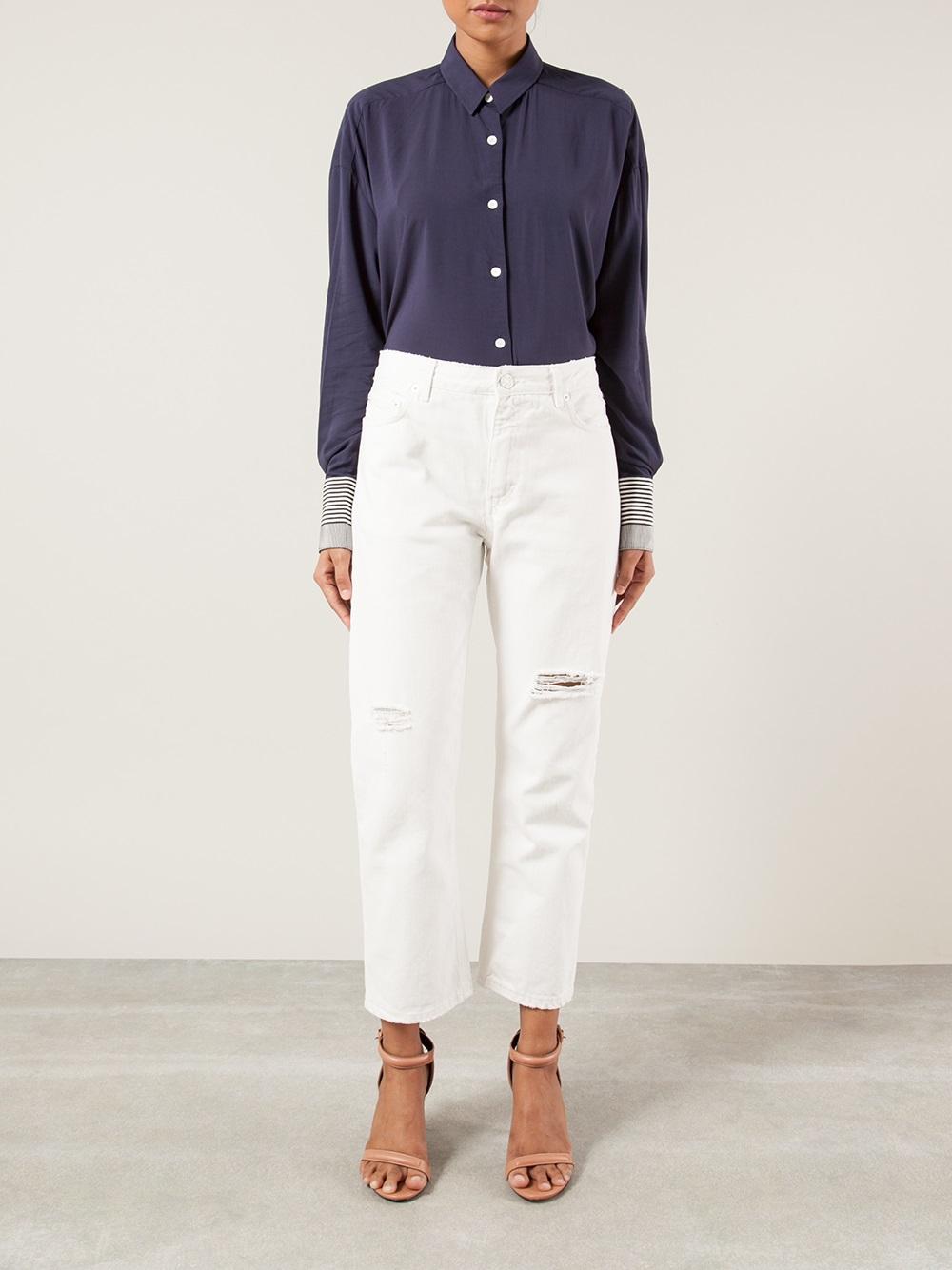 Acne Boyfriend Jeans in White | Lyst