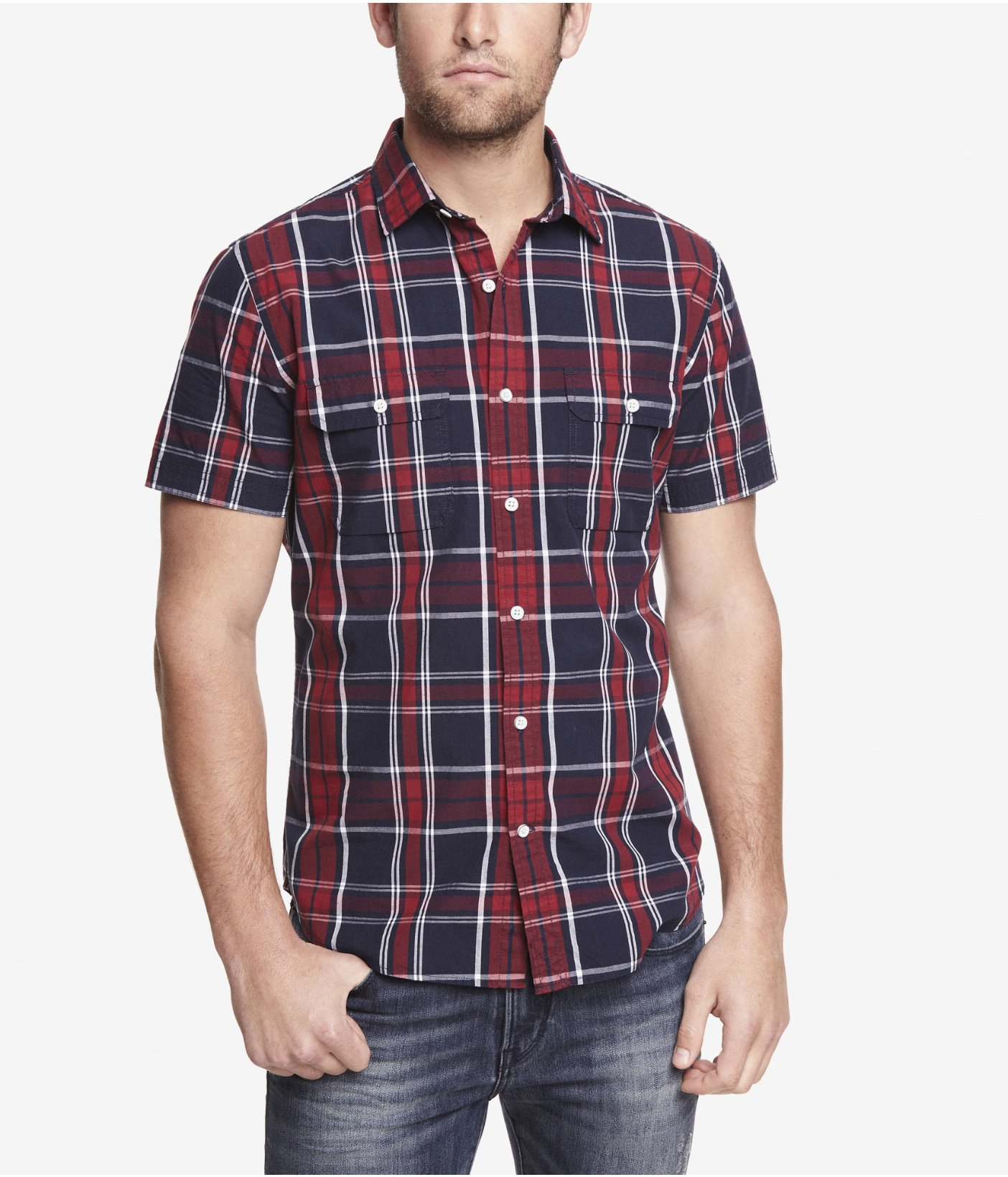 Short sleeve plaid shirts mens artee shirt Short sleeve plaid shirts