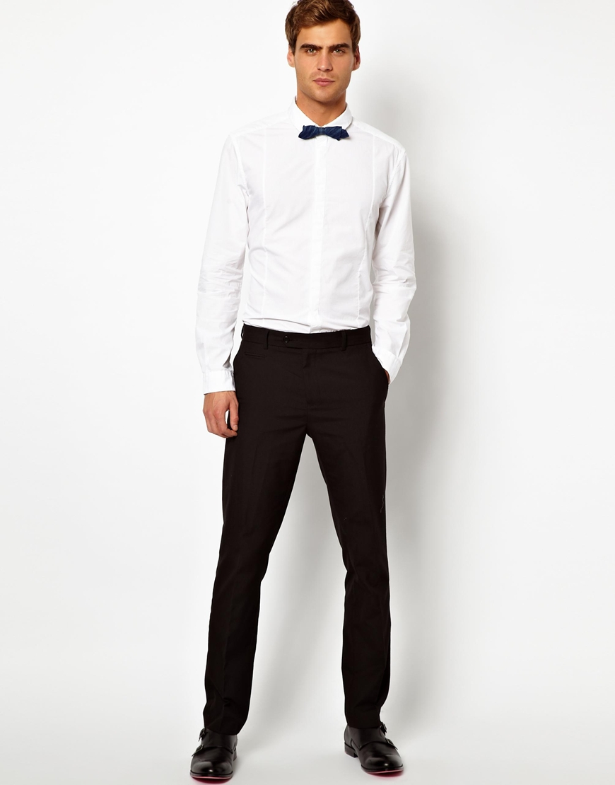 Esprit Shirt With Bow Tie In White For Men Lyst