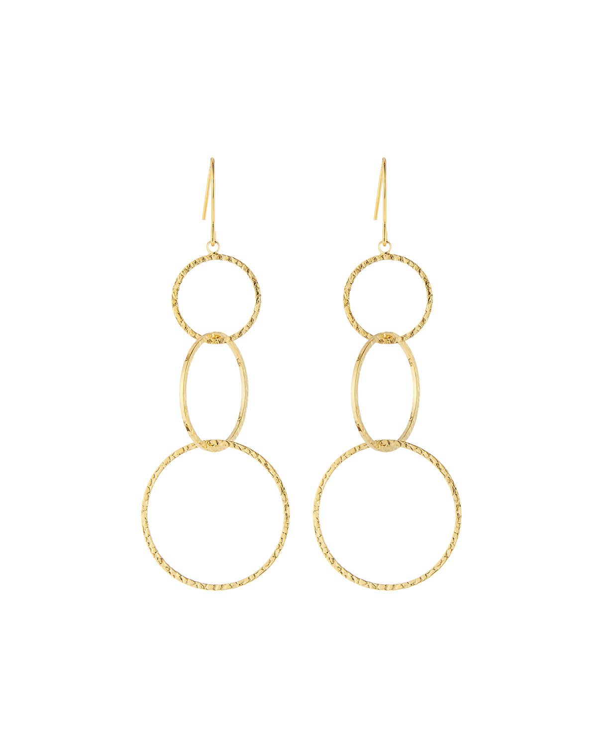 gold kors monogram pouch of michael picture p tone circle heritage circular s drop earrings