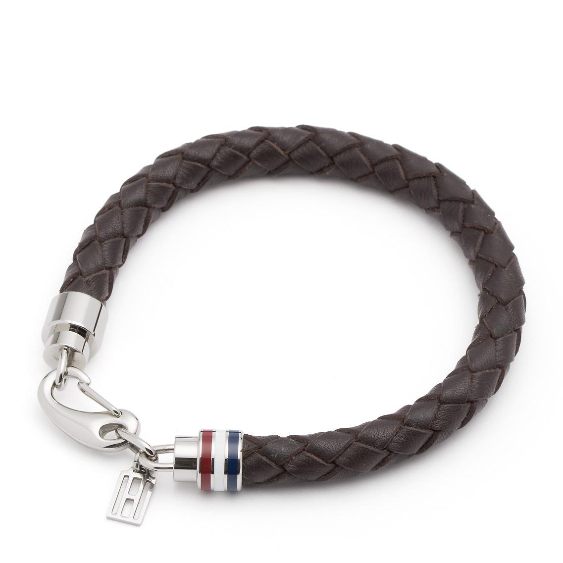 tommy hilfiger leather chain bracelet in red for men lyst. Black Bedroom Furniture Sets. Home Design Ideas