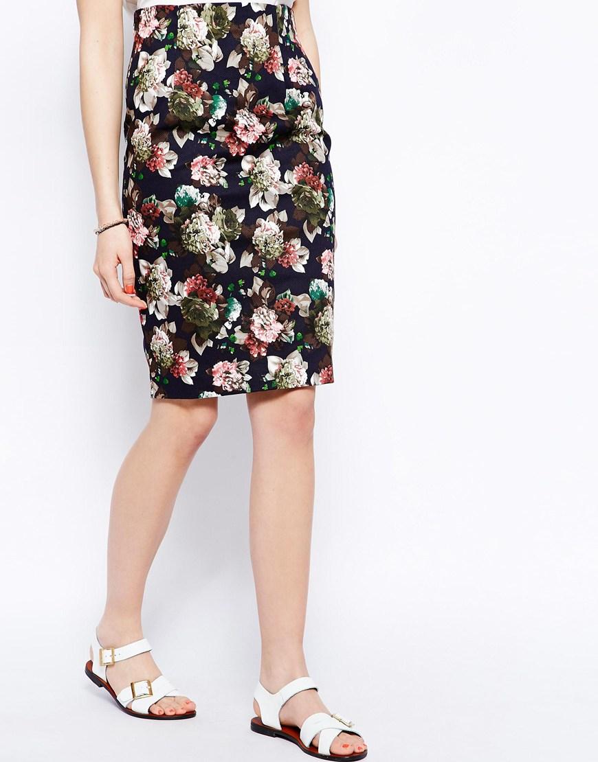 floral pencil skirt - photo #13