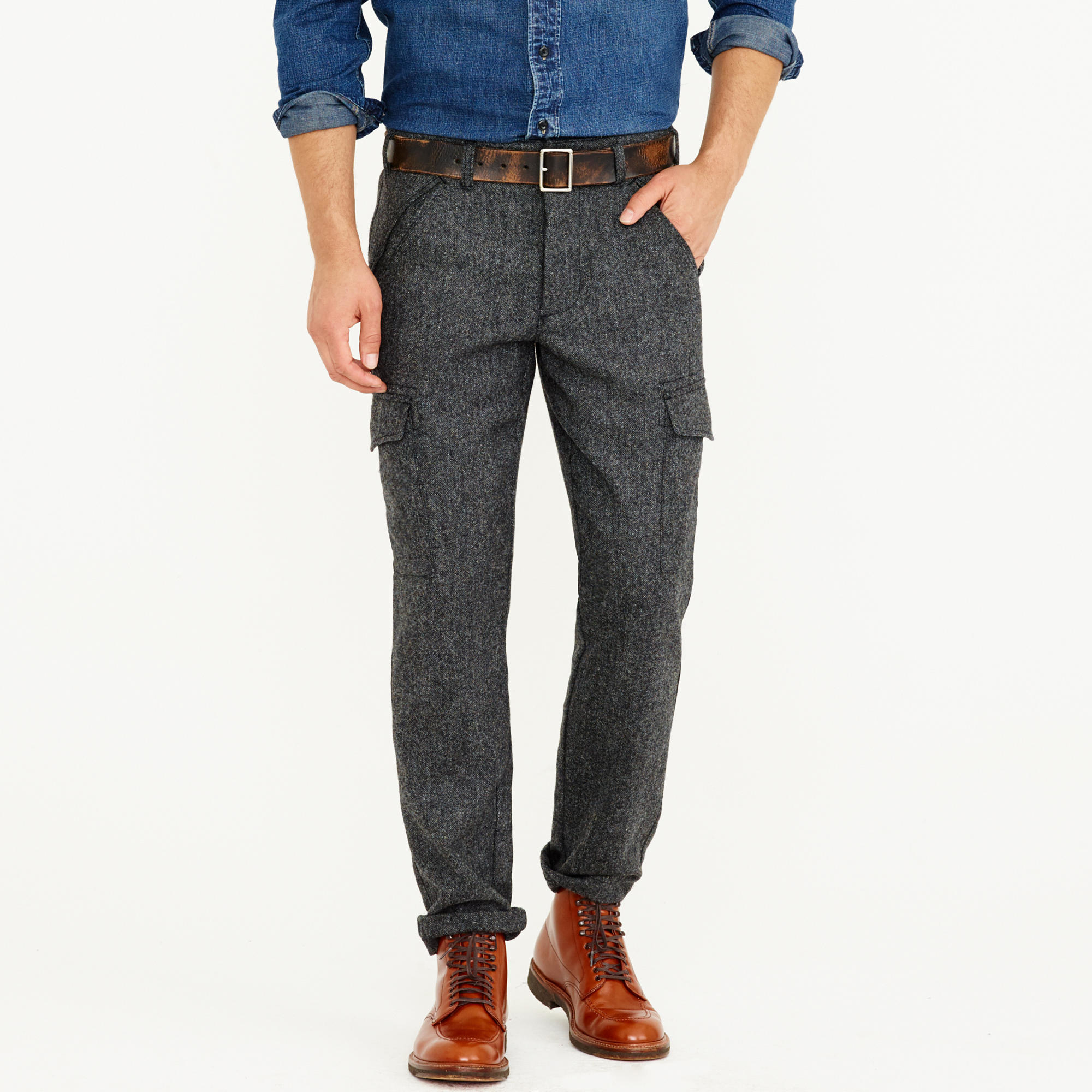 J.crew Wallace & Barnes Donegal Wool Cargo Pant in Gray for Men | Lyst