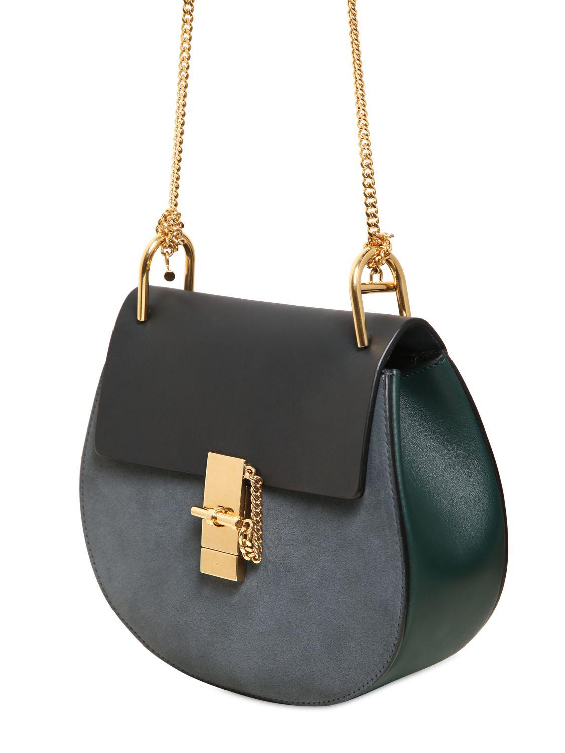 bcb510f2be Chloe Blue Suede Shoulder Bags