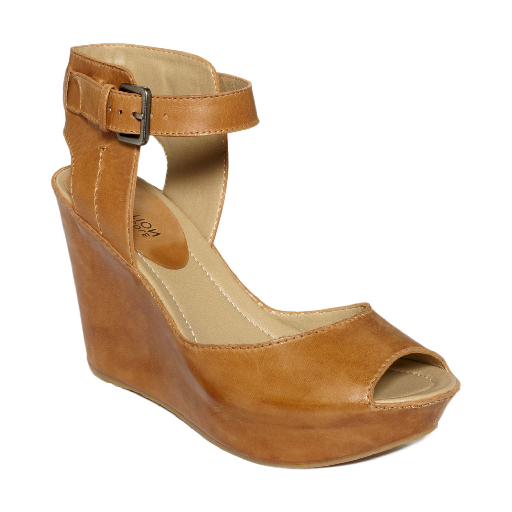 Kenneth Cole Reaction Sole My Heart Wedge Sandals In Brown
