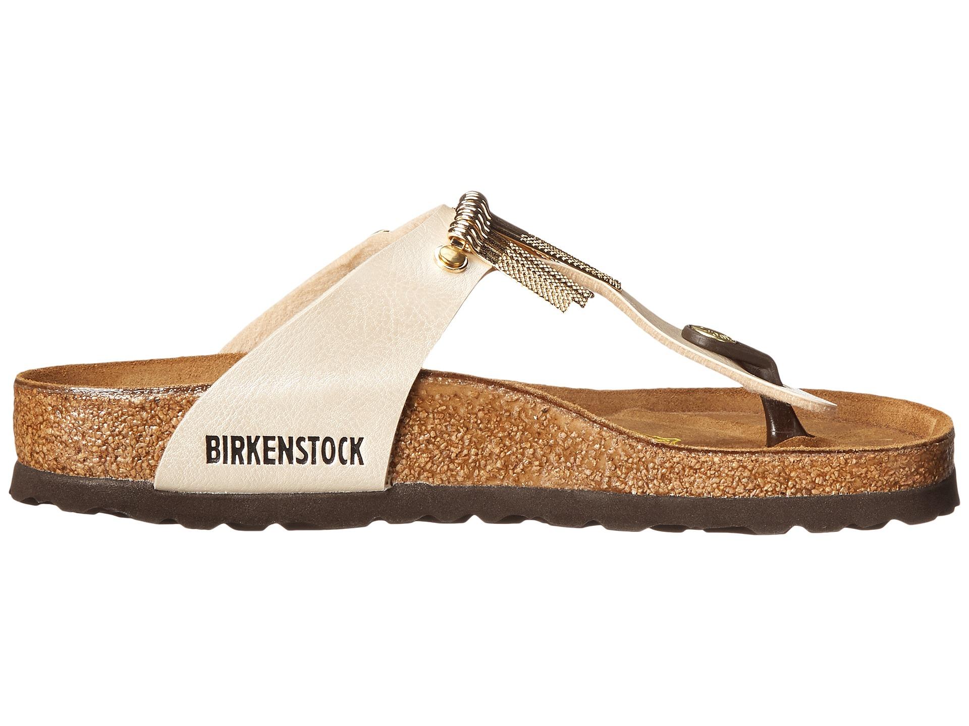 birkenstock gizeh with fringe