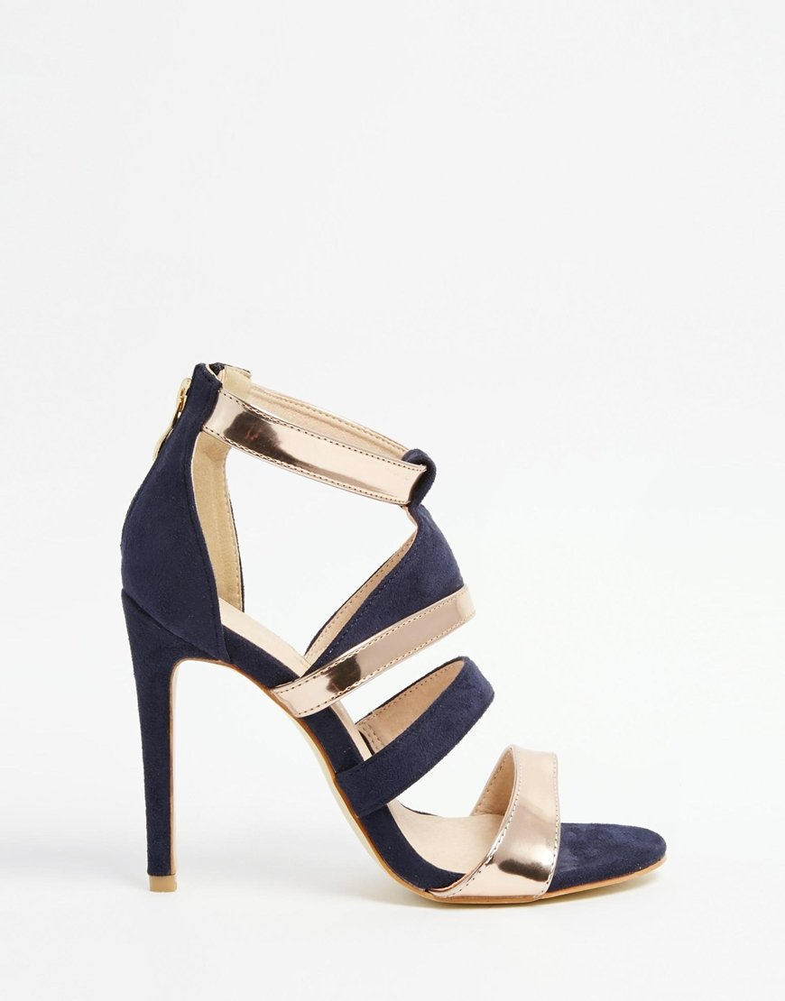 Navy Heeled Shoes