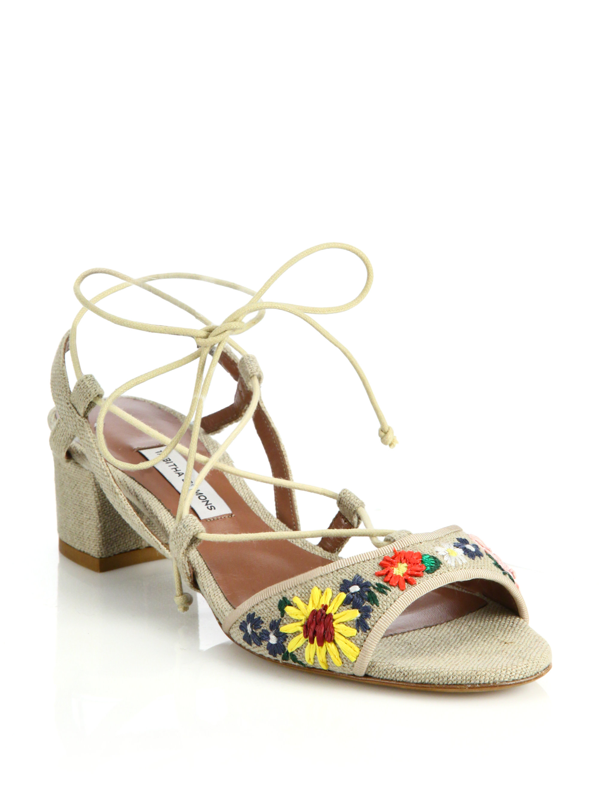 Tabitha Simmons Printed Lace-Tie Espadrilles really online fashion Style shop offer for sale 4AKVA0M