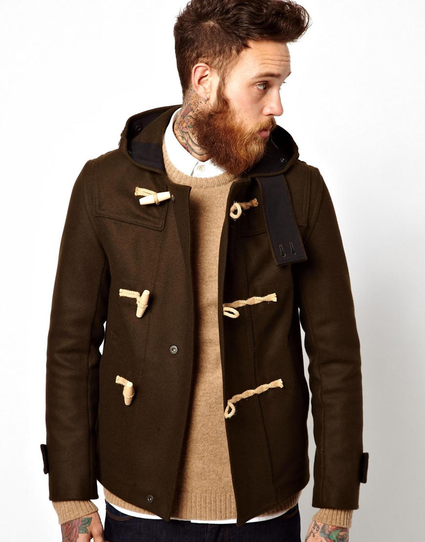 Gloverall Monty Duffle Coat in Natural for Men | Lyst