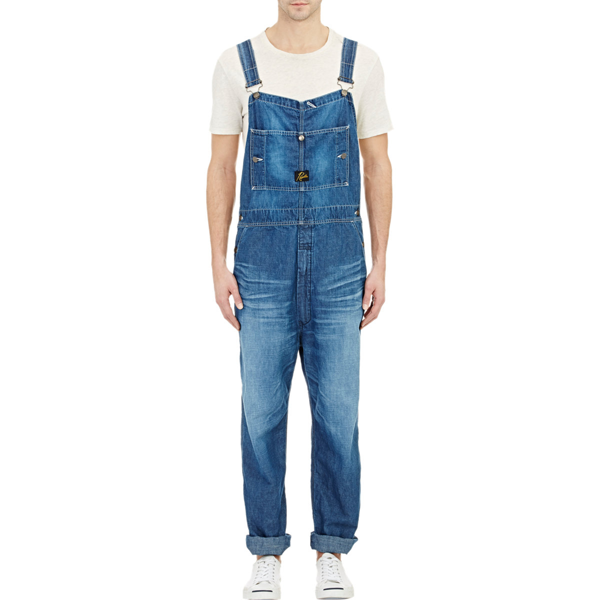 needles denim overalls in blue for men lyst. Black Bedroom Furniture Sets. Home Design Ideas