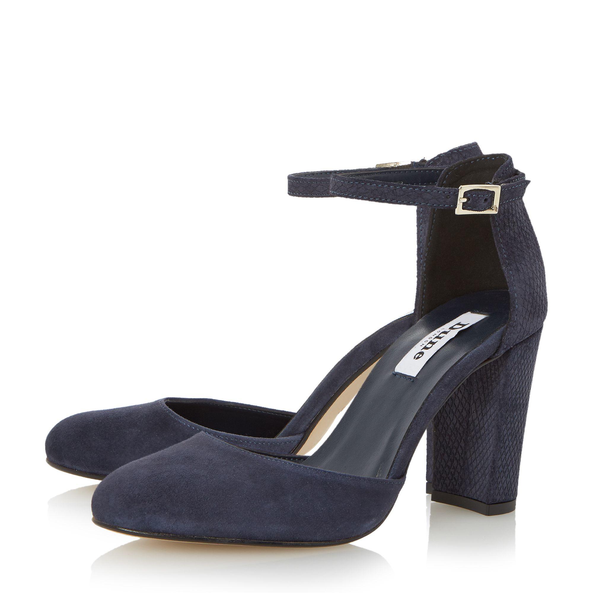 Dune Cairo 2 Part Block Heel Sandals In Blue Lyst