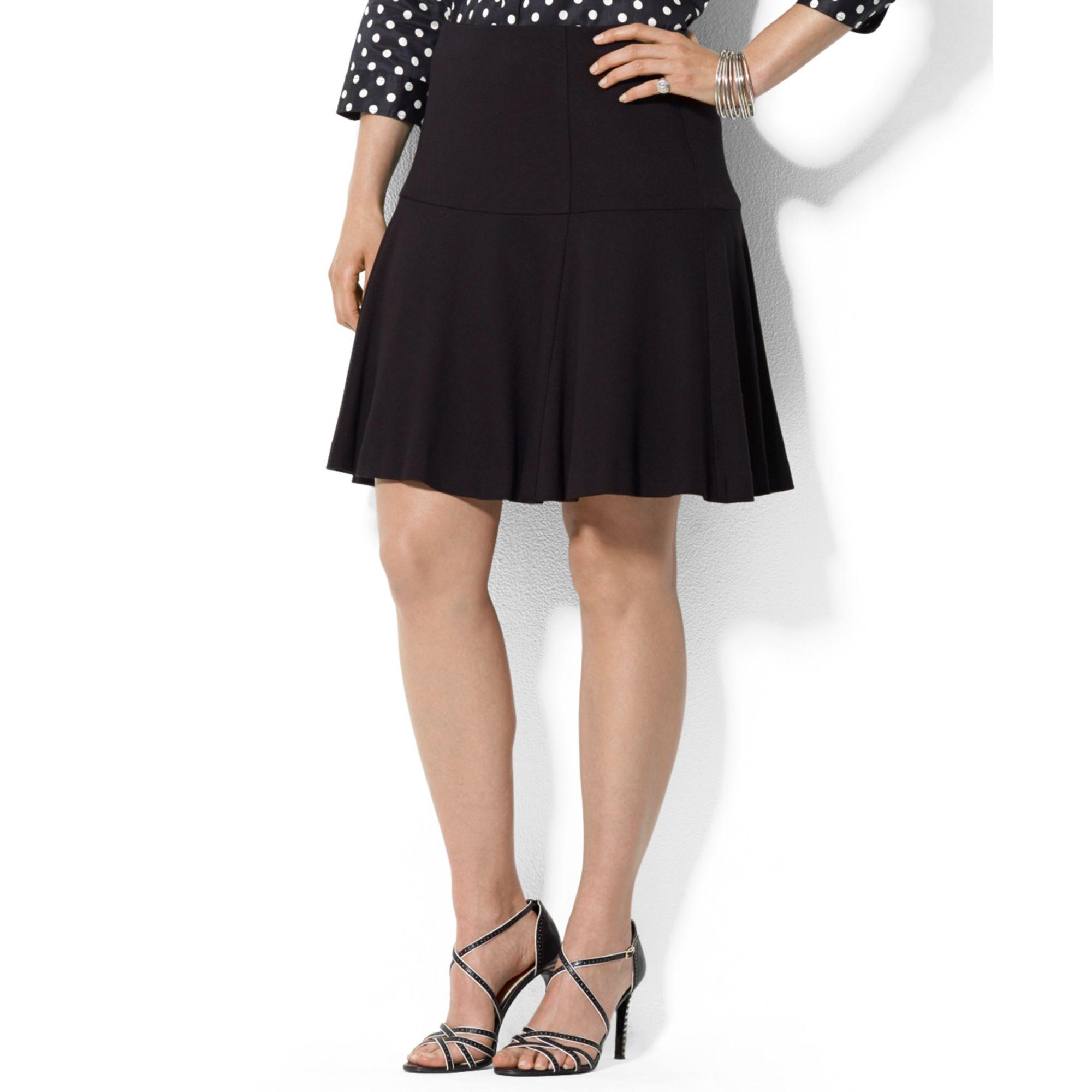 ee605819f74db Lyst - Lauren by Ralph Lauren Plus Size Fitandflare Skirt in Black