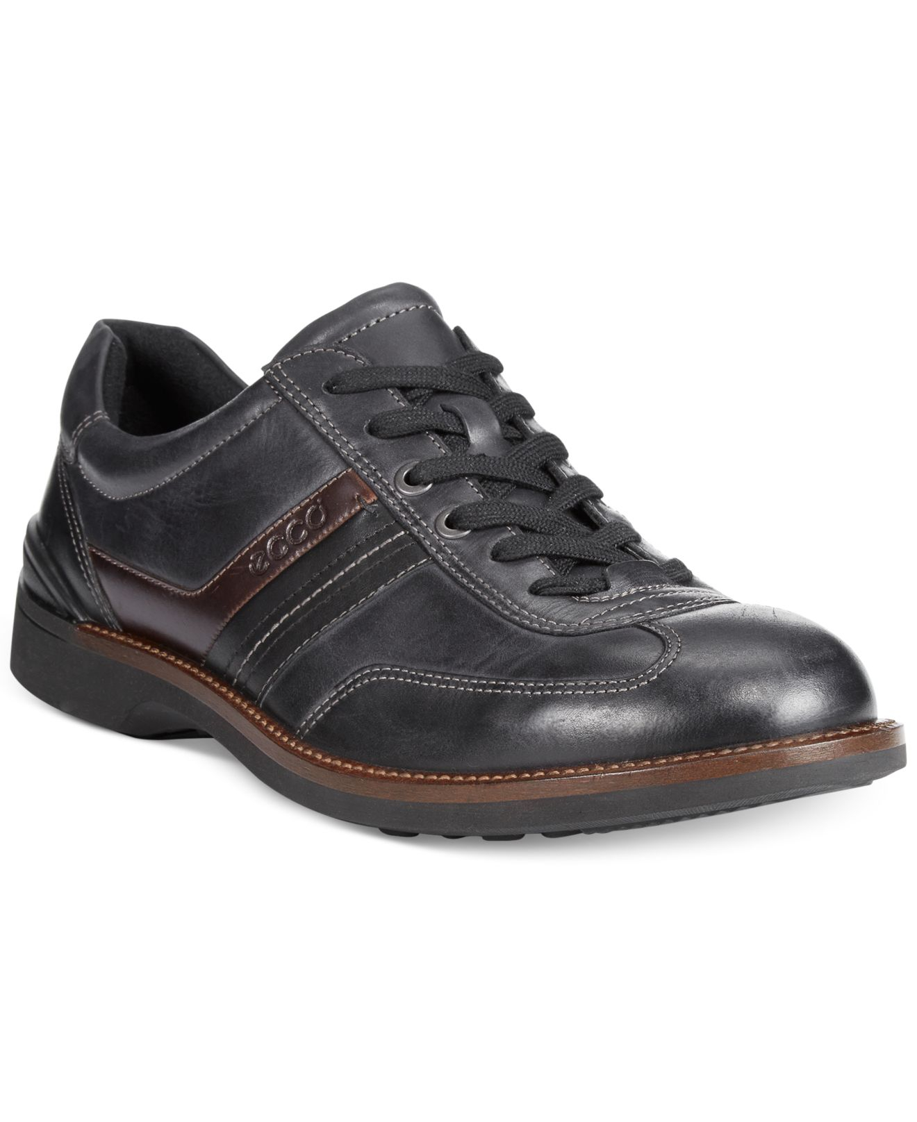 6a7cbed43b Lyst - Ecco Fenn Lace-up Shoes in Black for Men