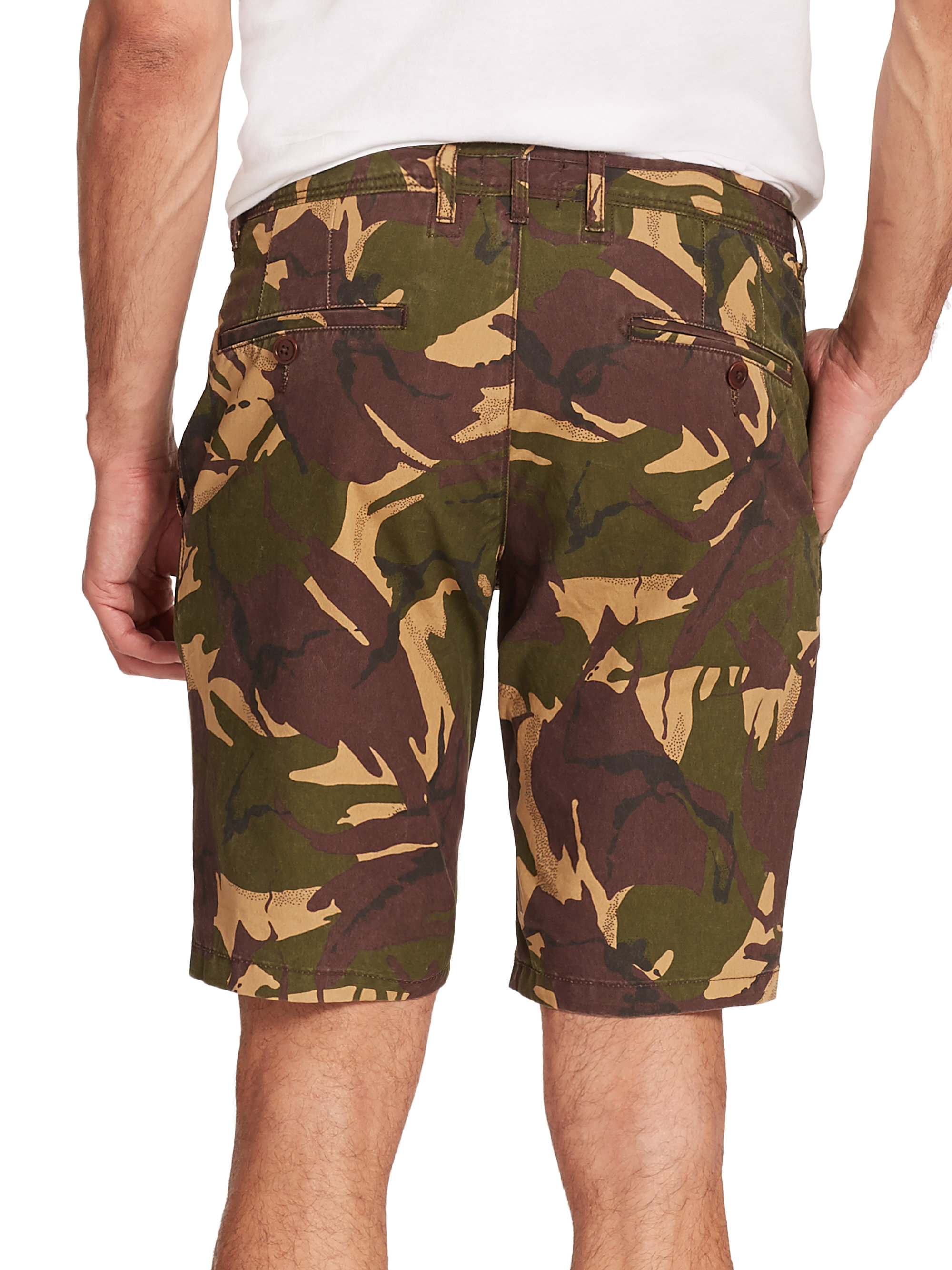 Barbour Cowen Camouflage Cotton Shorts in Green for Men | Lyst