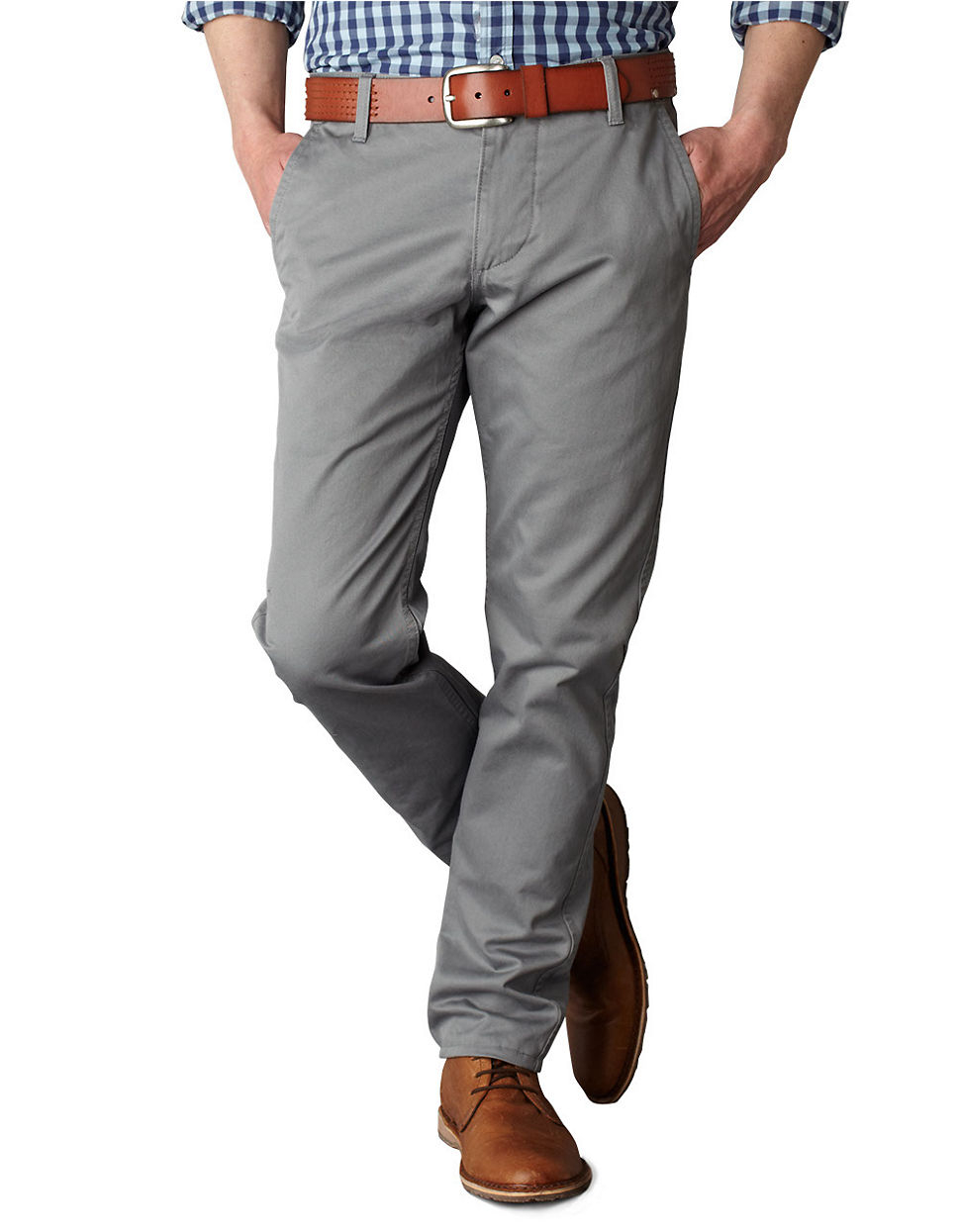 Dockers Straight-Leg Alpha Khaki Pants in Gray for Men | Lyst