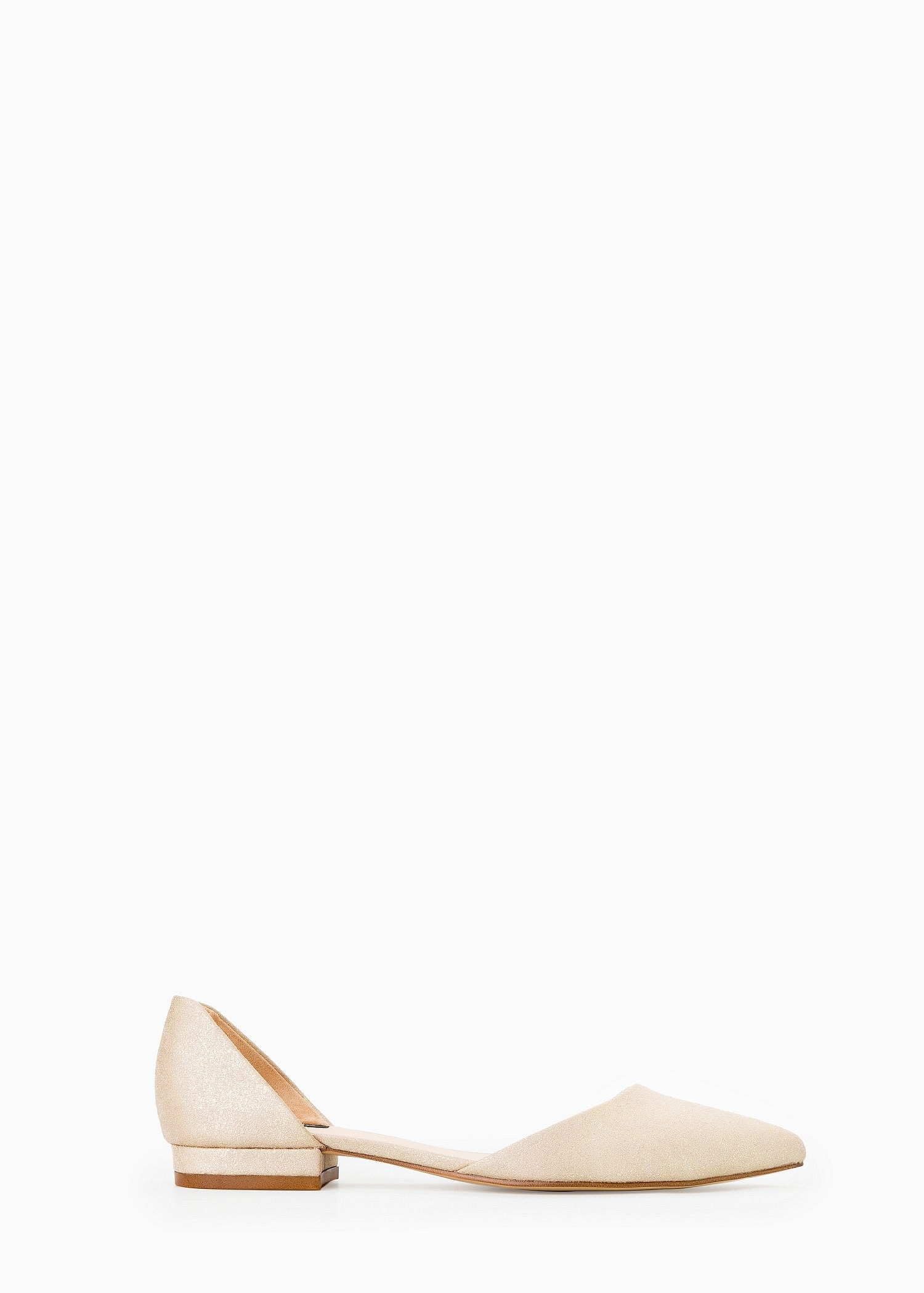 Lyst - Mango Pointed Toe Flat Shoes In Metallic