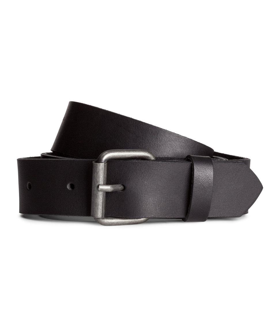 h m leather belt in black for men lyst. Black Bedroom Furniture Sets. Home Design Ideas