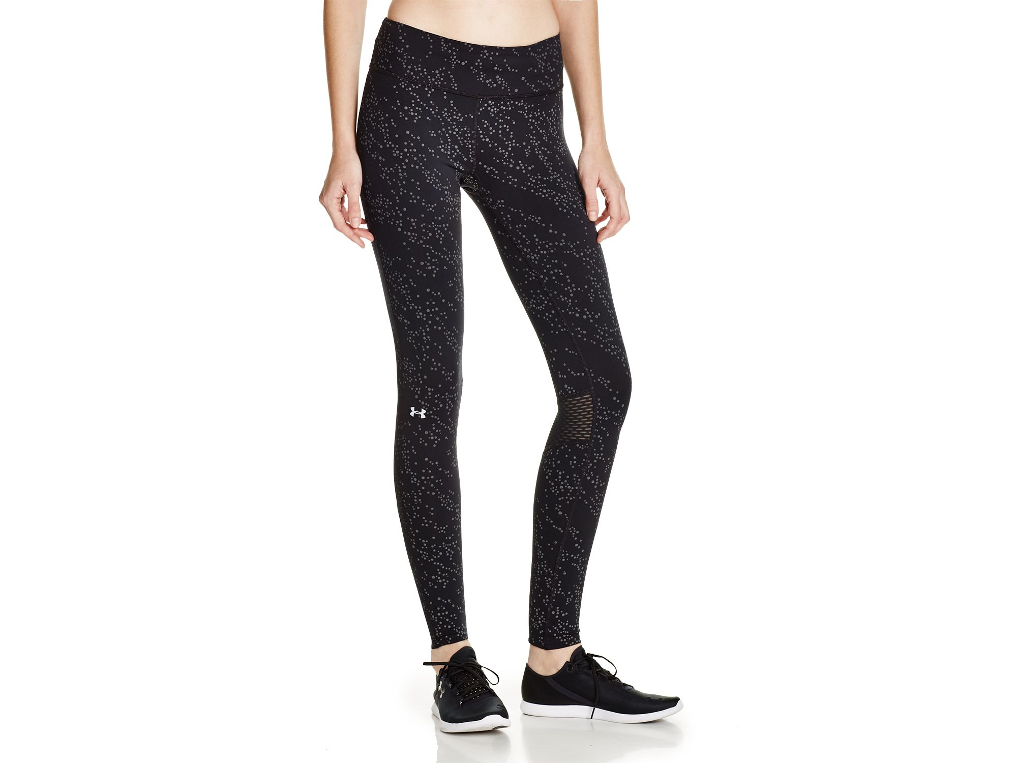 Under armour Fly By Luminous Leggings in Black | Lyst