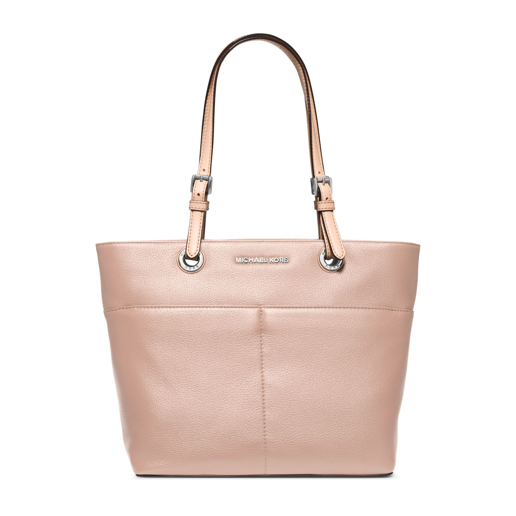b58f1b06089520 Very best Lyst - Michael Kors Bedford Top-zip Leather Tote in Pink IQ77