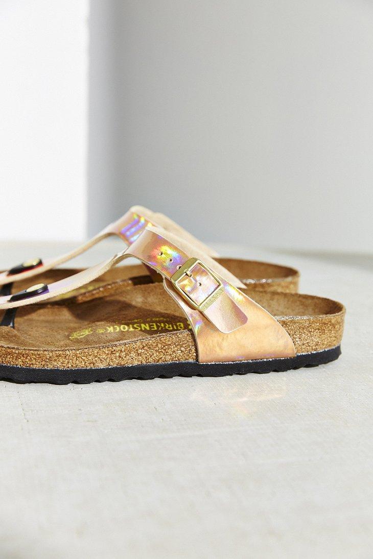 b10c454b406 Lyst - Birkenstock Gizeh Birko-flor Mirror Sandal in Pink