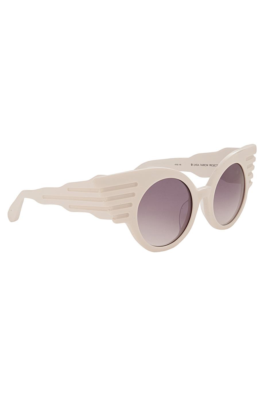 ba851b5a840d Lyst - Jeremy Scott Winged Corner Sunglasses in White