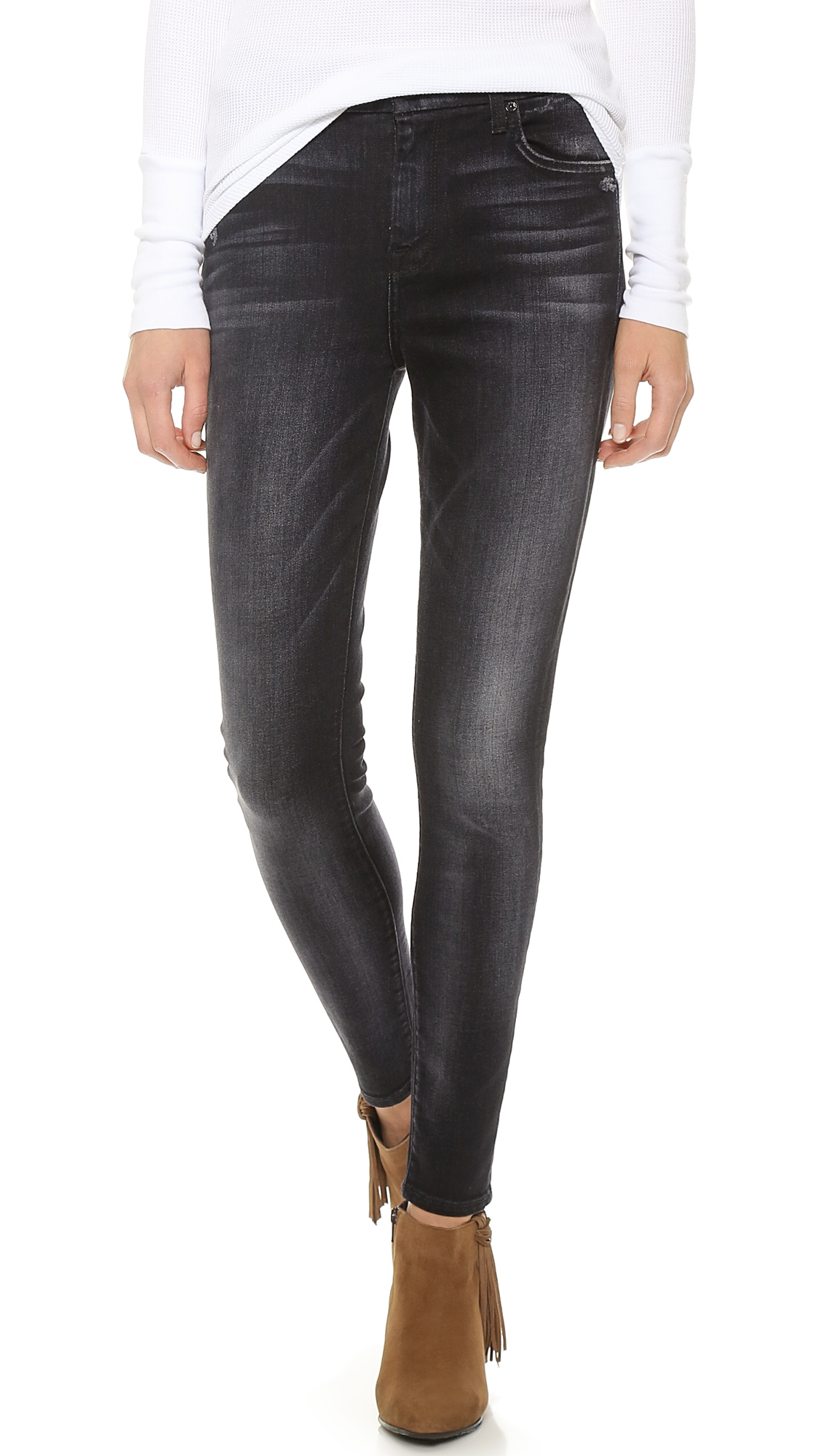 7 for all mankind High Waist Slim Illusion Skinny Jeans - Slim ...