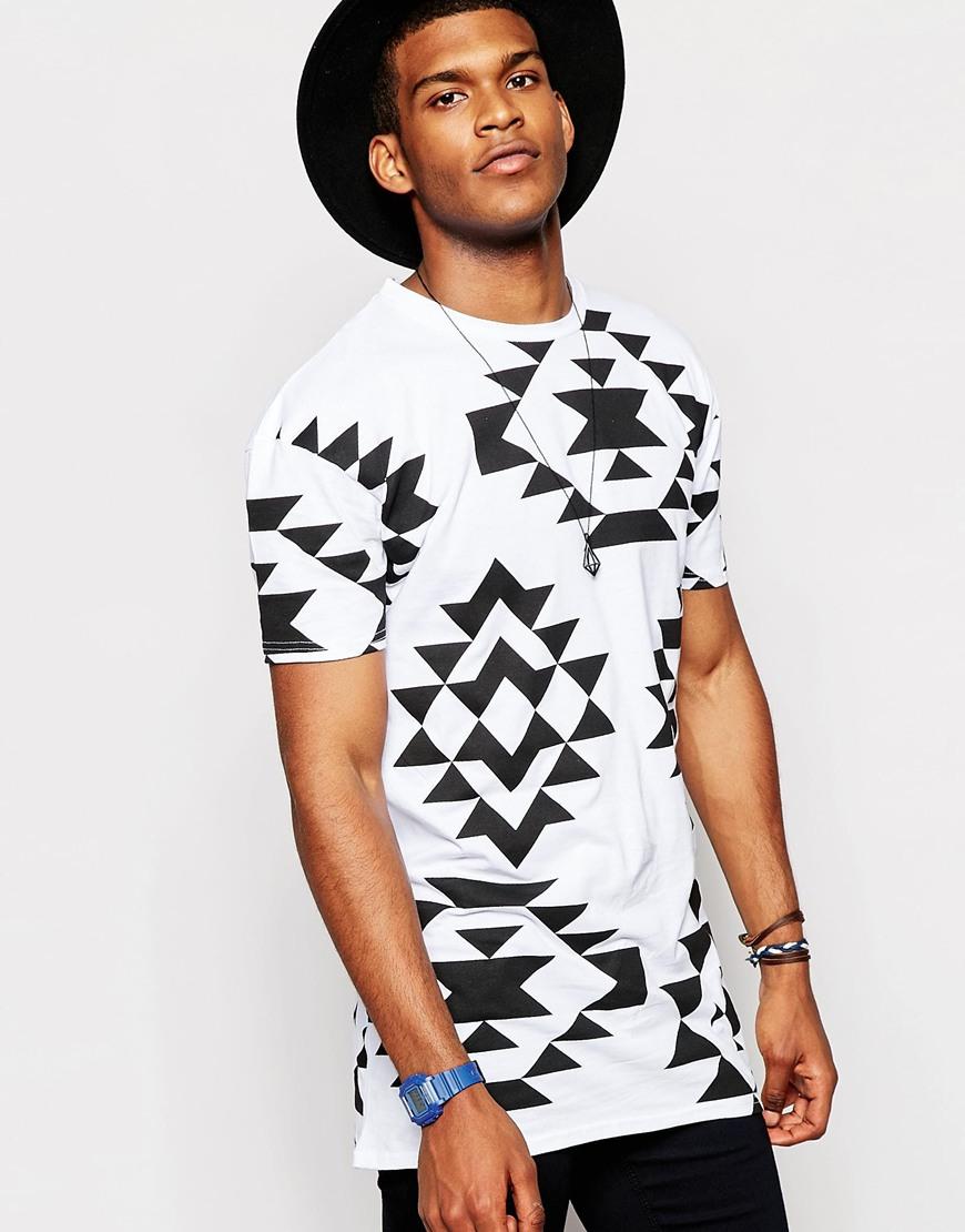 0bd07374 Jaded London Festival T-shirt In Geo-tribal Print in Black for Men ...