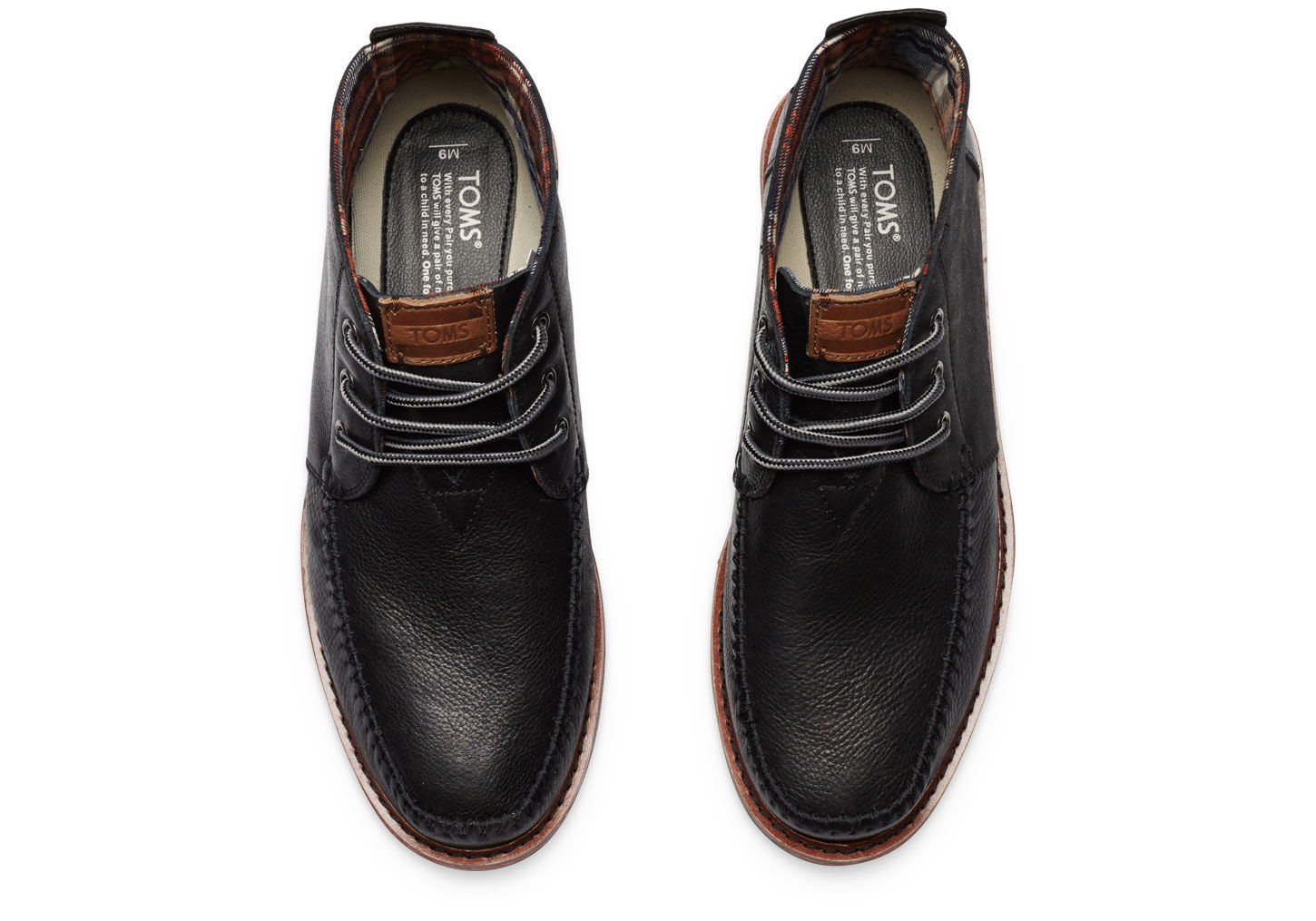 Toms Black Leather Men'S Chukka Boots in Black for Men | Lyst