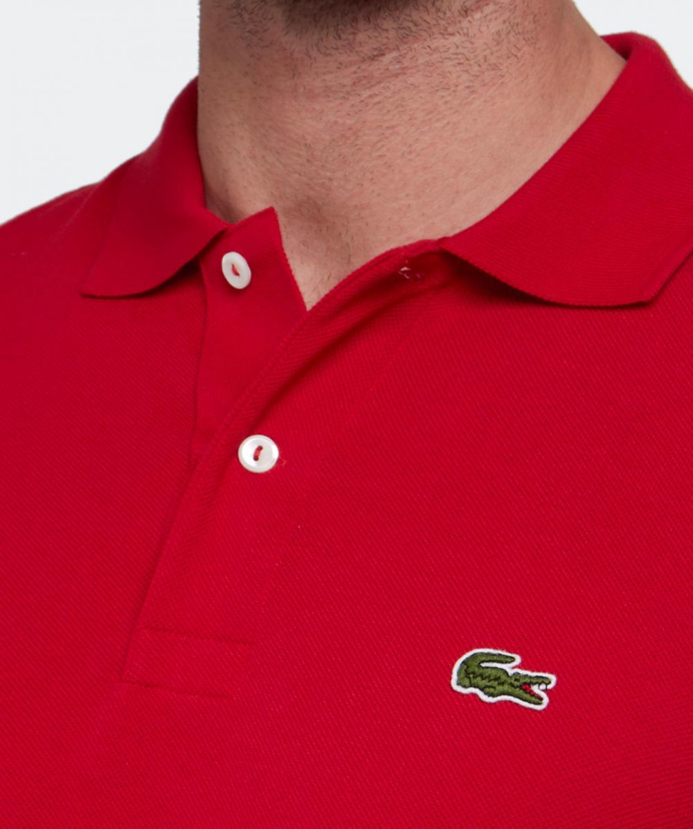 Lyst Lacoste Long Sleeve L1312 Polo Shirt In Red For Men