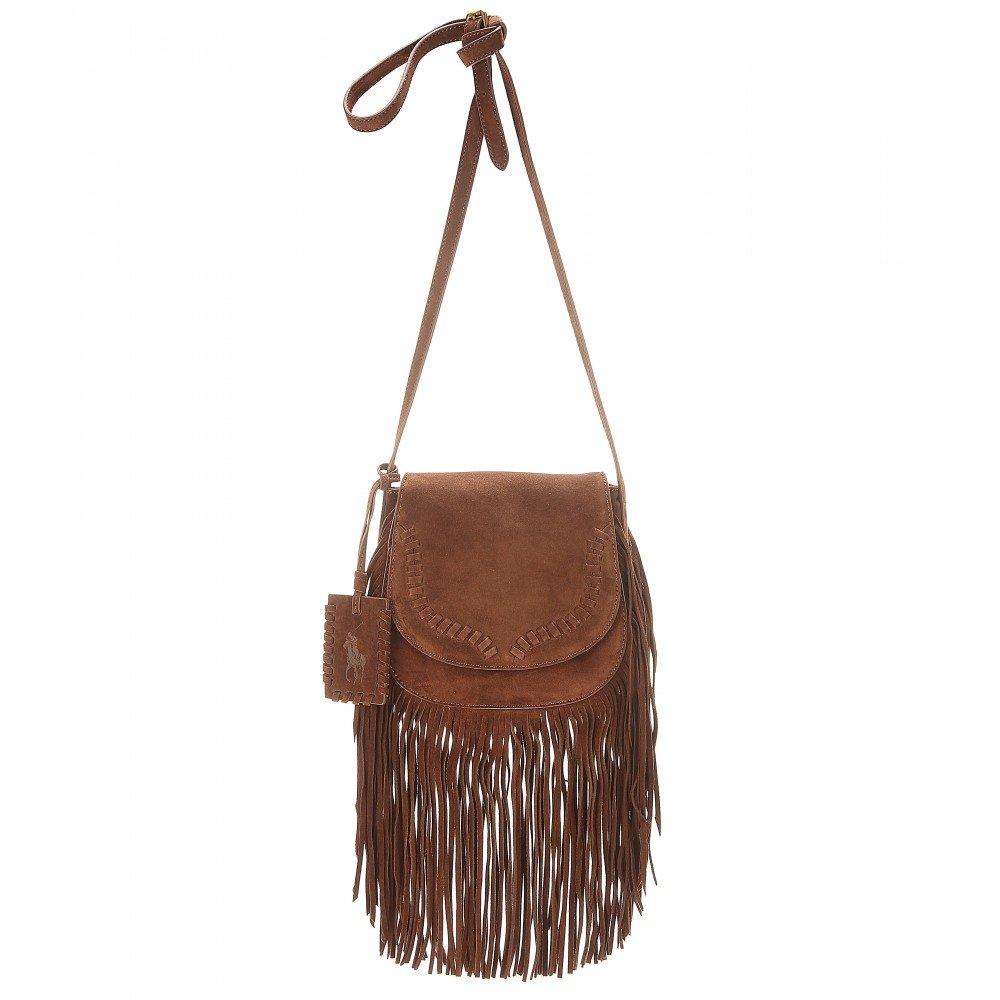Excellent Lyst - Polo Ralph Lauren Fringed Suede Shoulder Bag in Brown LO53