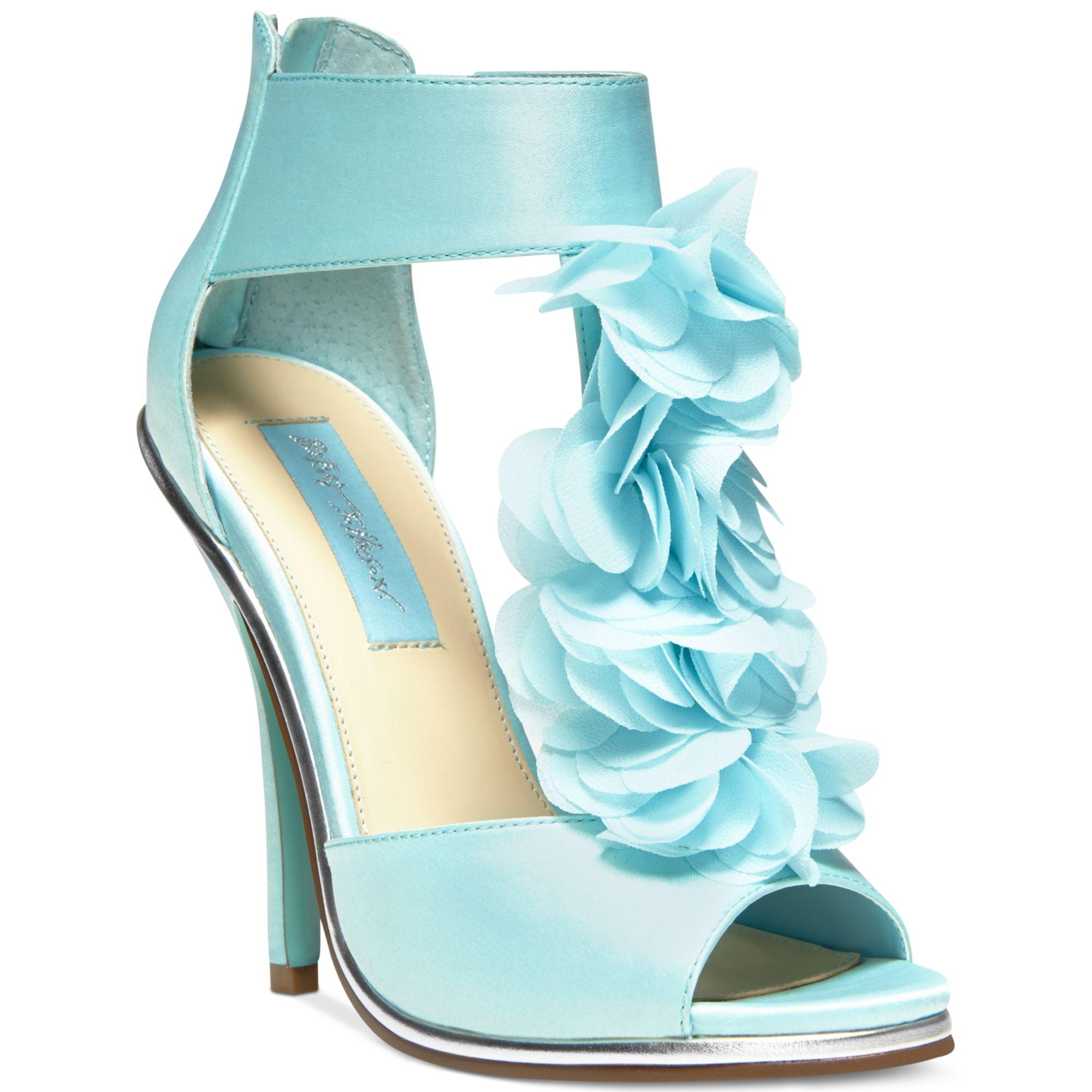 Betsey Johnson Blue By Bloom Evening Platform Sandals In Blue | Lyst