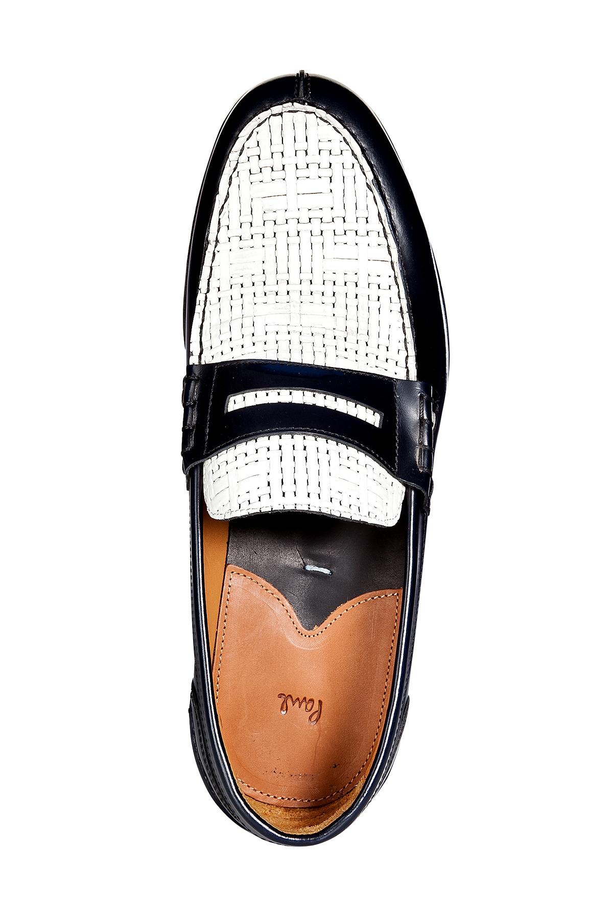 e42ed0fdb9c Lyst - Paul Smith Leather Twotone Konrad Penny Loafers in White for Men