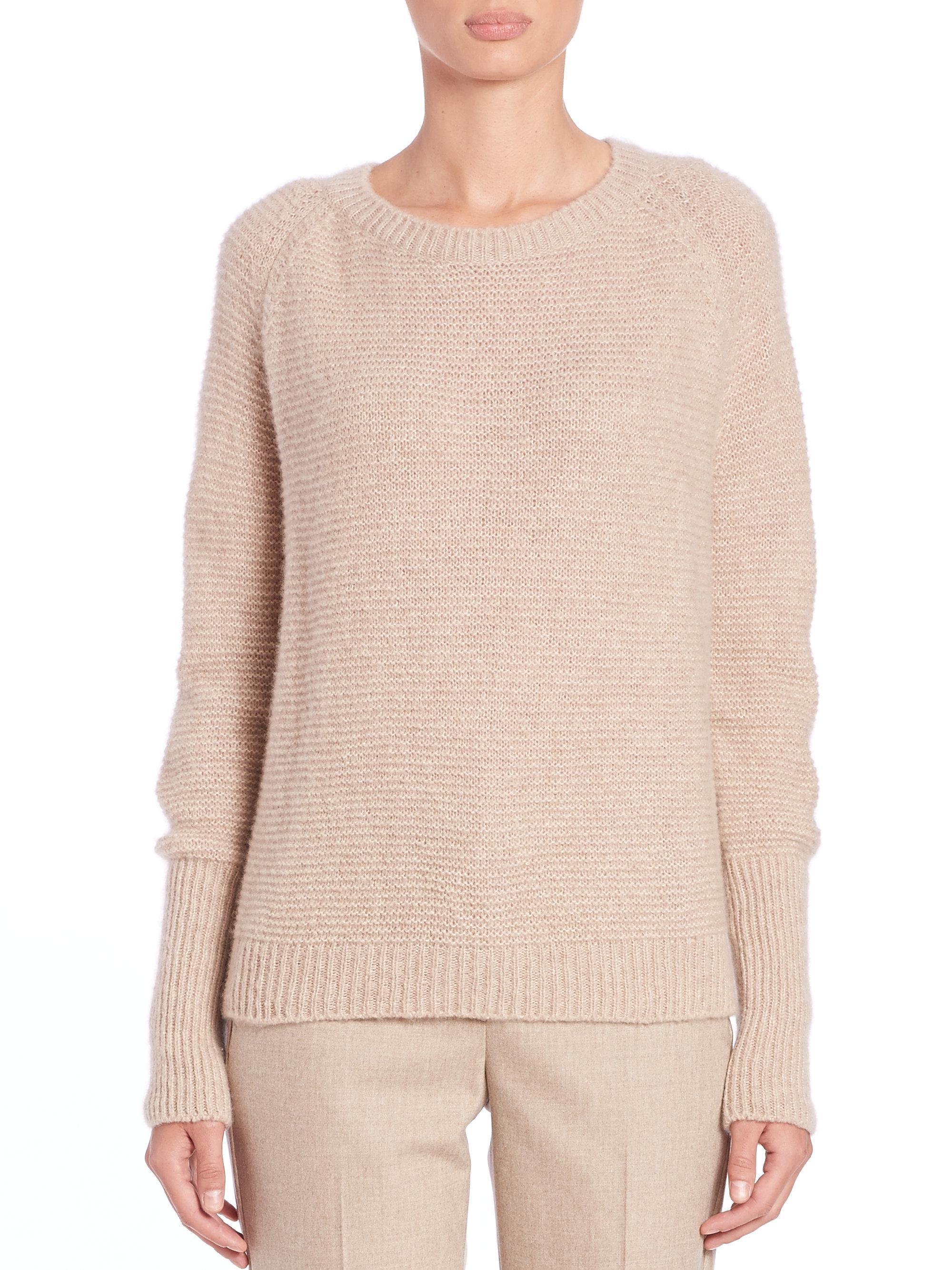 Max mara Brezza Silk-cashmere Sweater in Natural | Lyst