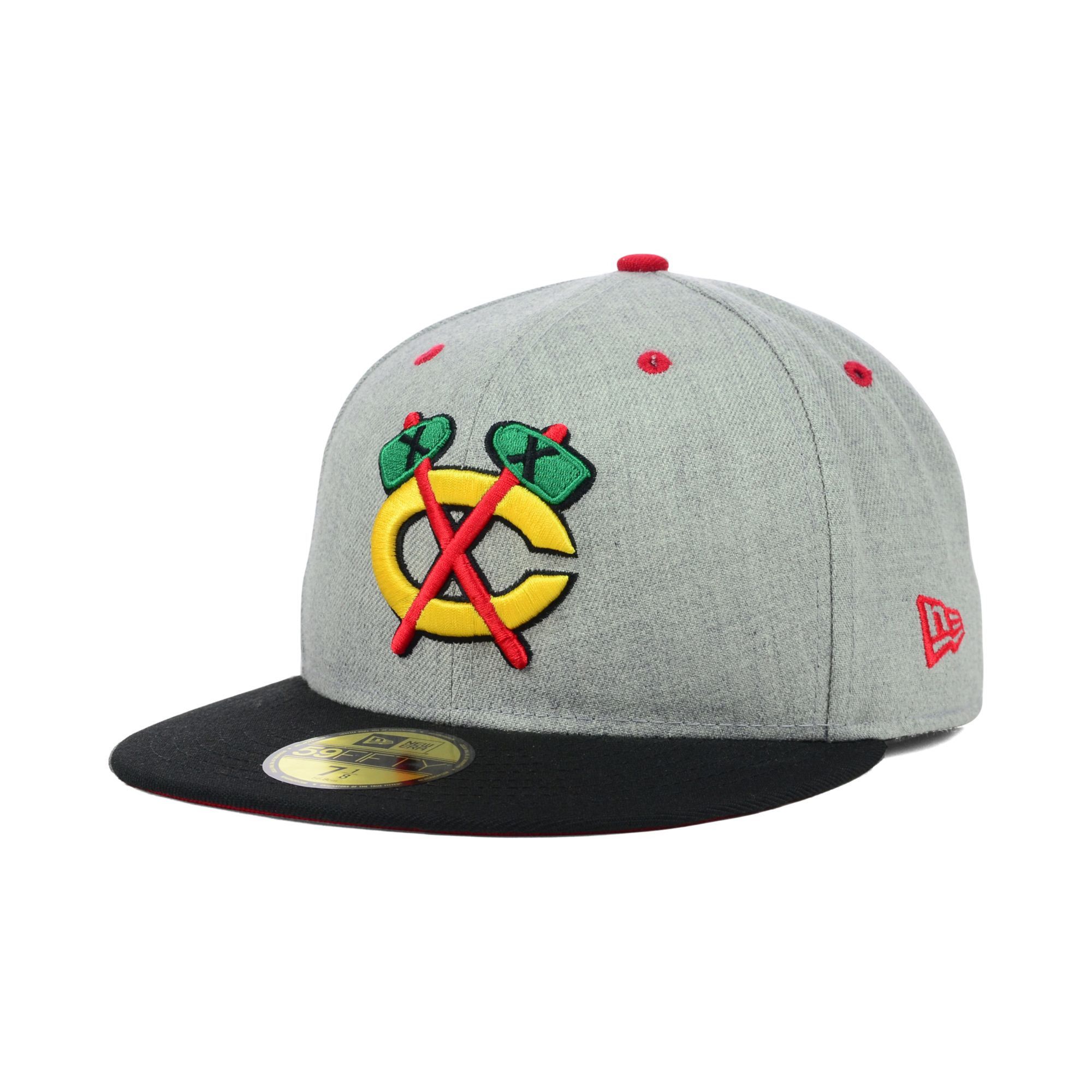 sports shoes 18d07 e4206 KTZ Chicago Blackhawks Heather 2-tone 59fifty Cap in Gray for Men - Lyst