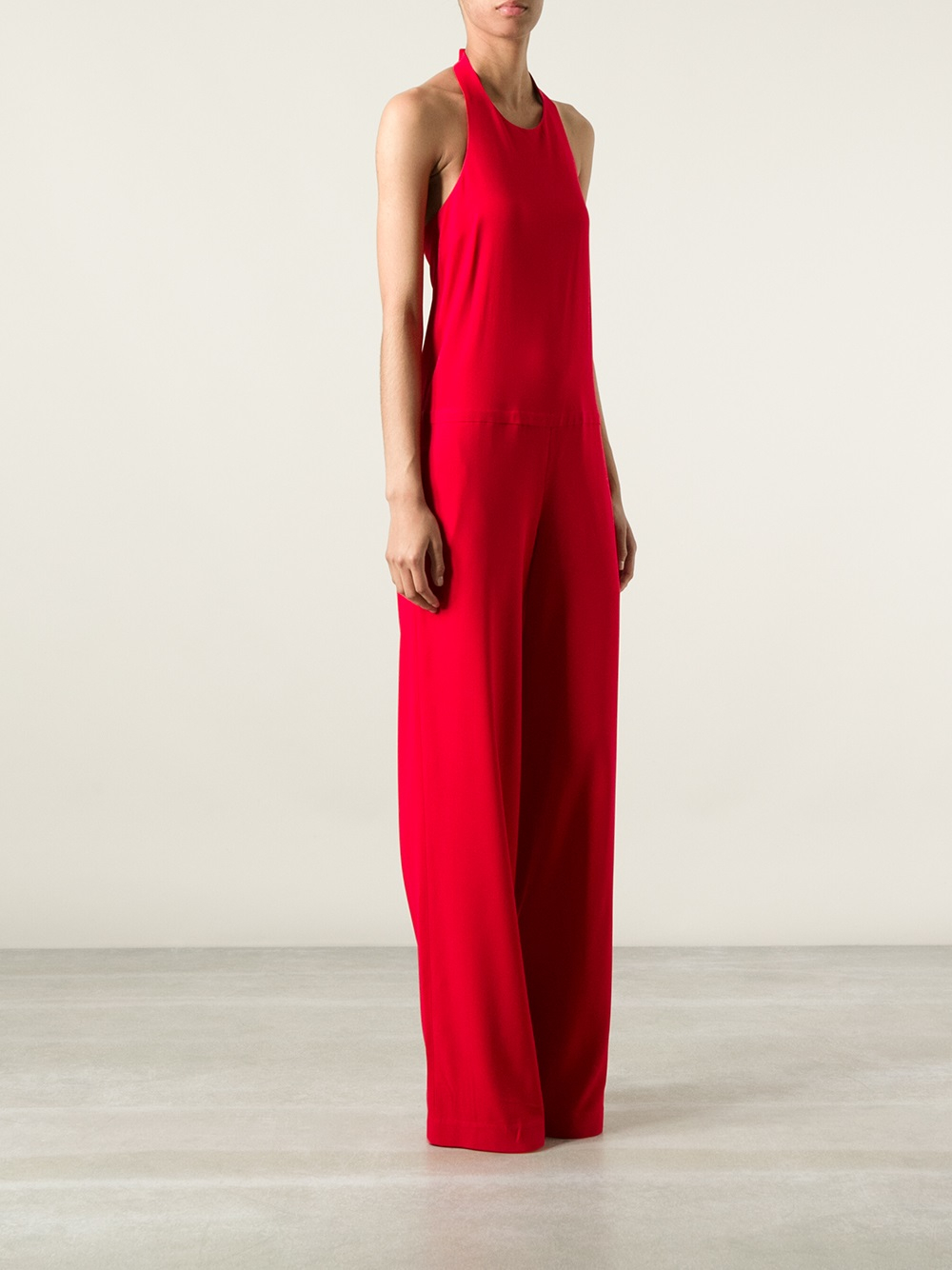 Normaluisa Sleeveless Jumpsuit in Red | Lyst